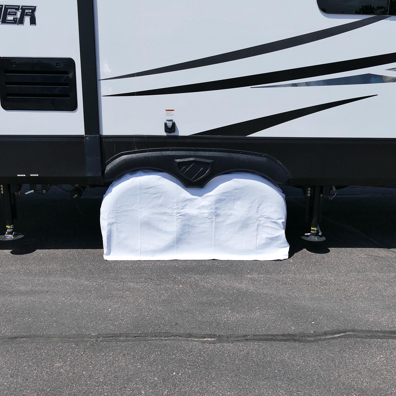 Dumble Rv Trailer Dual Axle Wheel Cover Wheel Protector