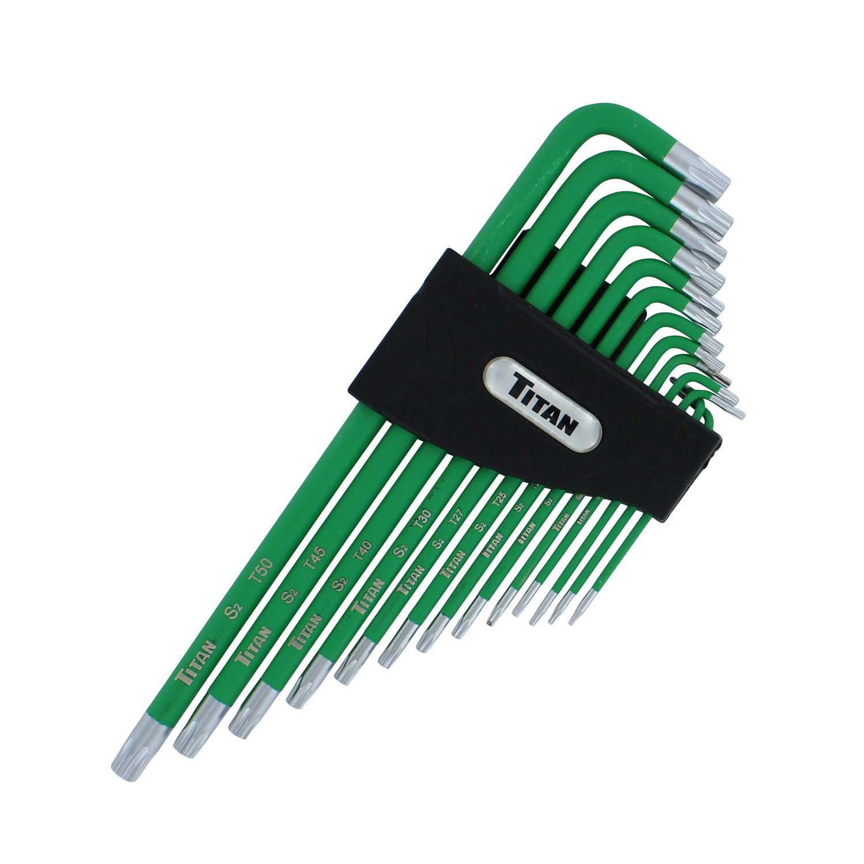 13 Piece Titan Tools 12715 Extra-Long Arm Tamper Resistant Star Key Set