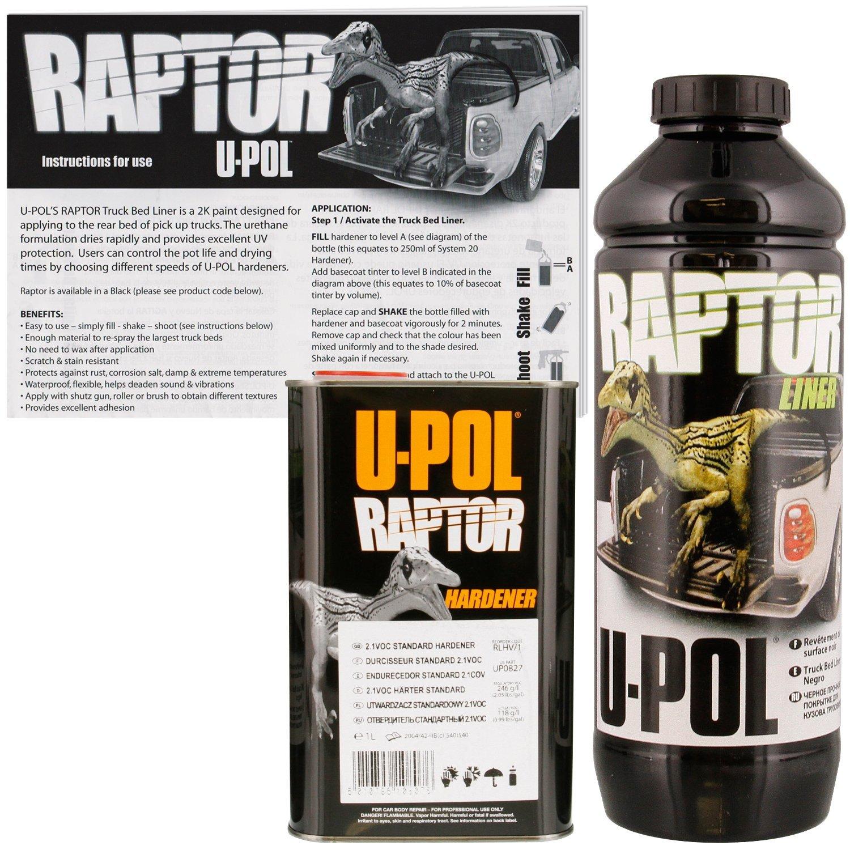 U Pol Raptor Tintable Bed Liner Texture Coating 1l Upol