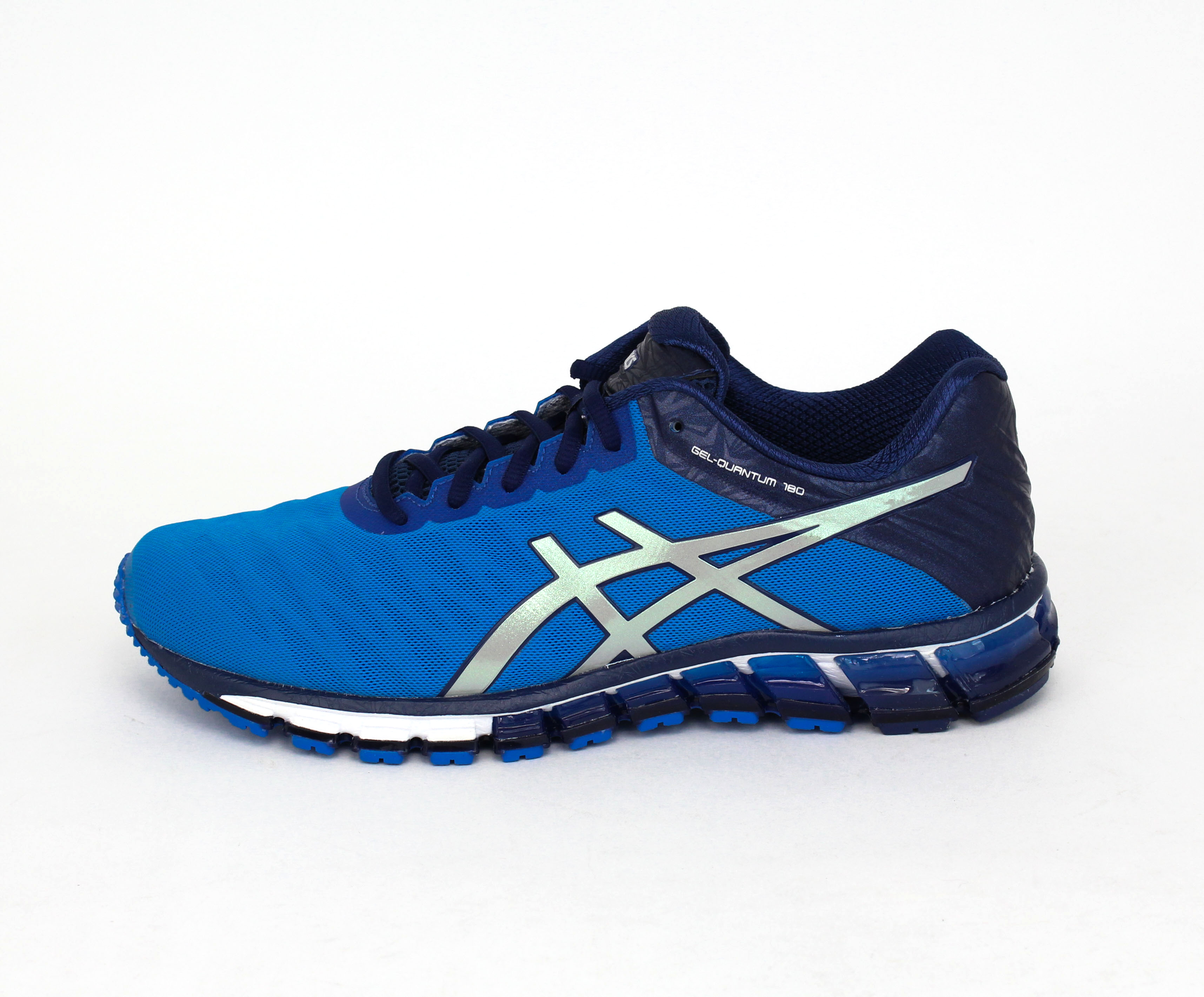 asics men 39 s gel quantum 180 electric blue silver blue ebay. Black Bedroom Furniture Sets. Home Design Ideas
