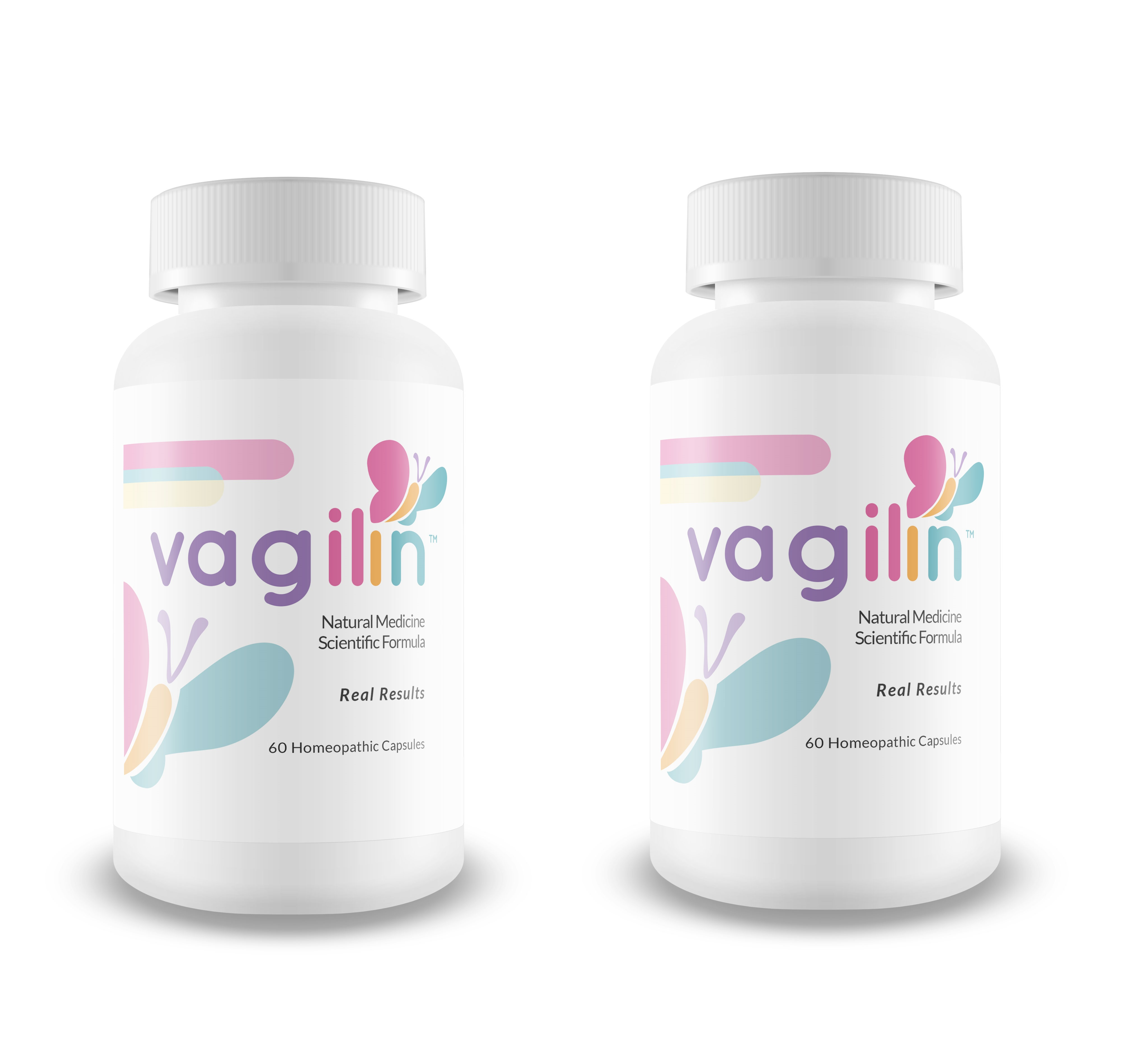 Vagilin 60ct - 2pk homeopathic medicine to eliminate vaginal