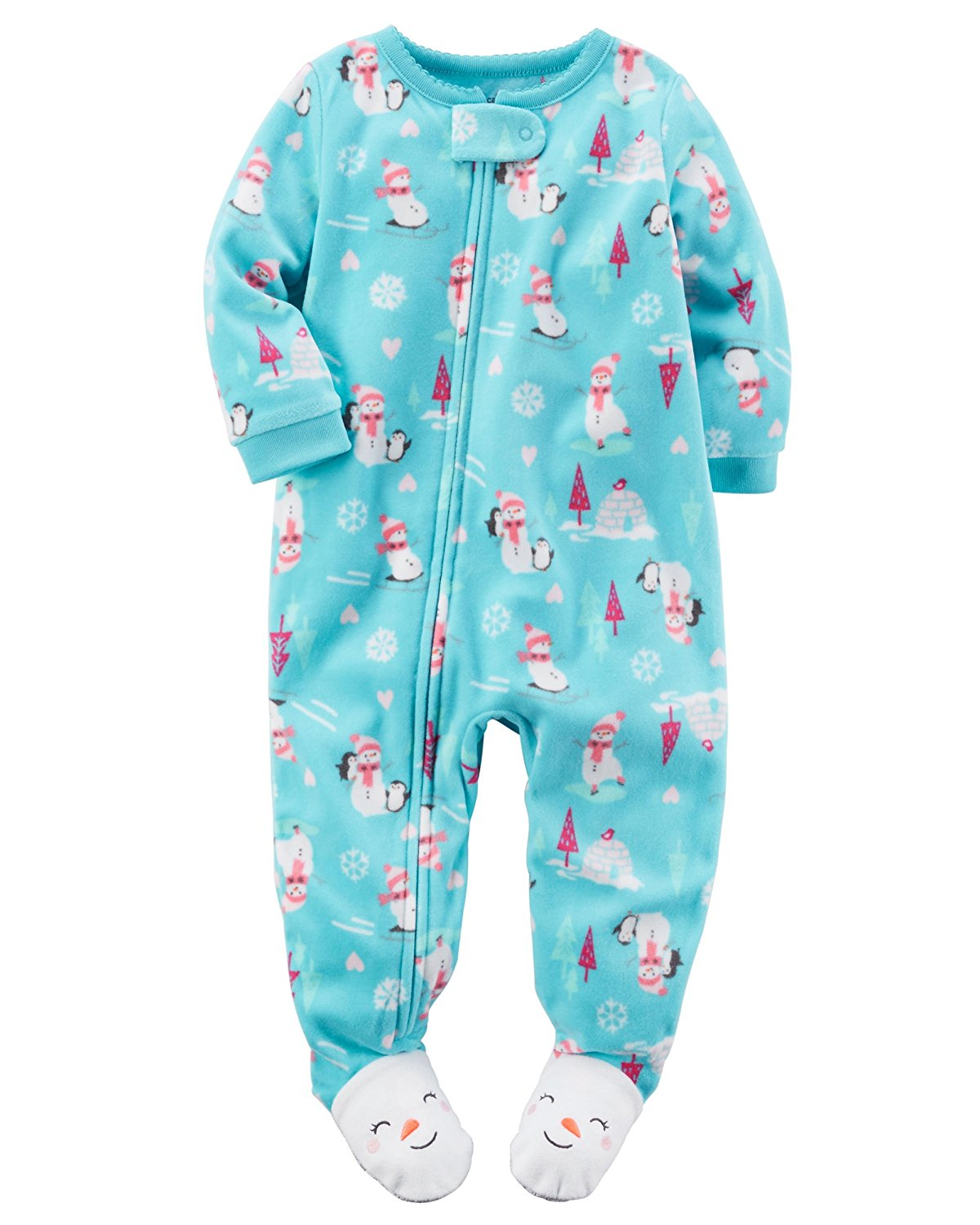 Carter S Baby Girls 1 Piece Footed Fleece Pajamas Pj S Ebay