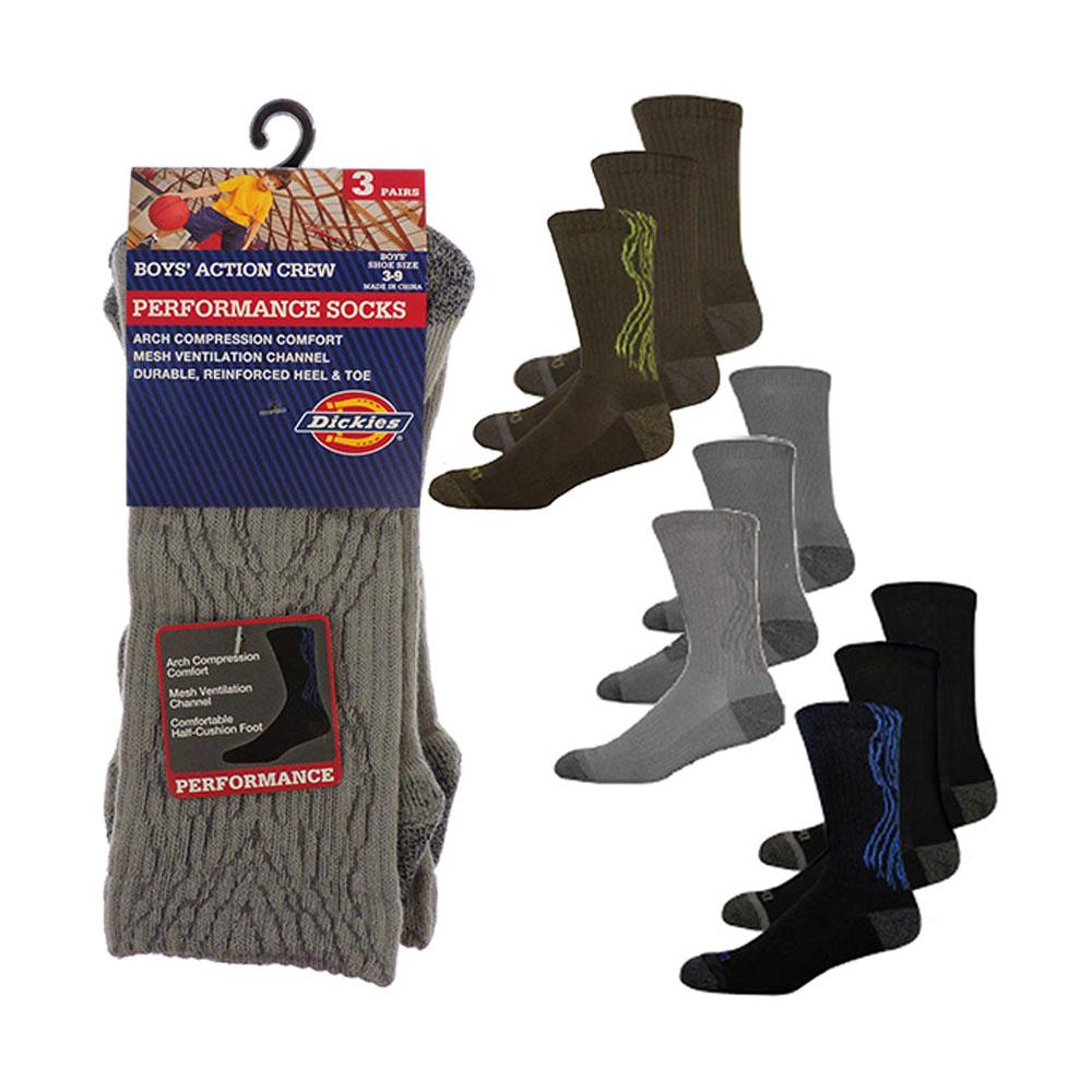 Dickie-039-s-Boys-039-3-Pairs-Wood-Print-Crew-Socks thumbnail 11