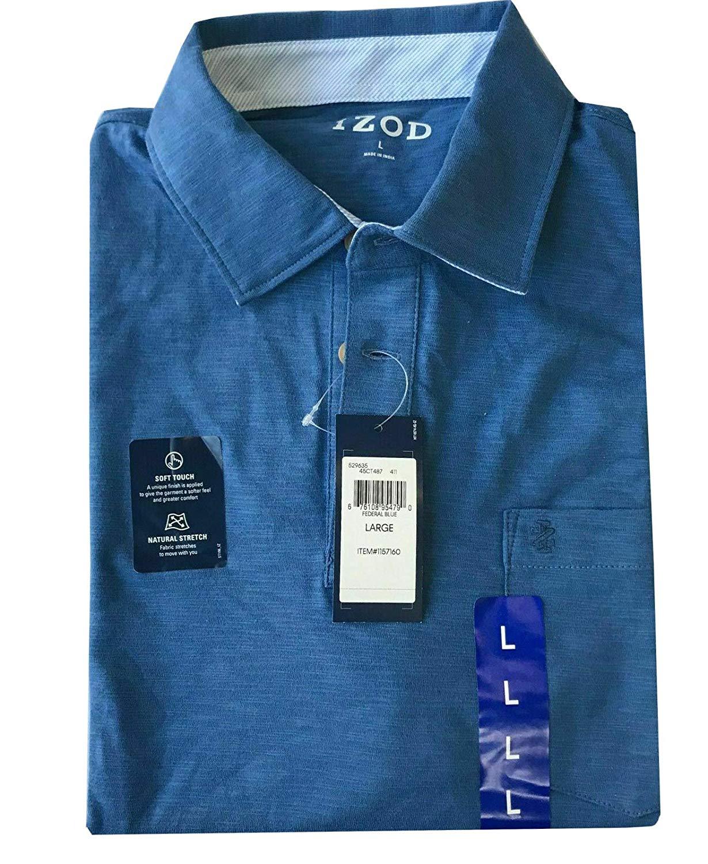 IZOD-Men-039-s-Saltwater-Chest-Pocket-Slub-Polo-529635 thumbnail 10