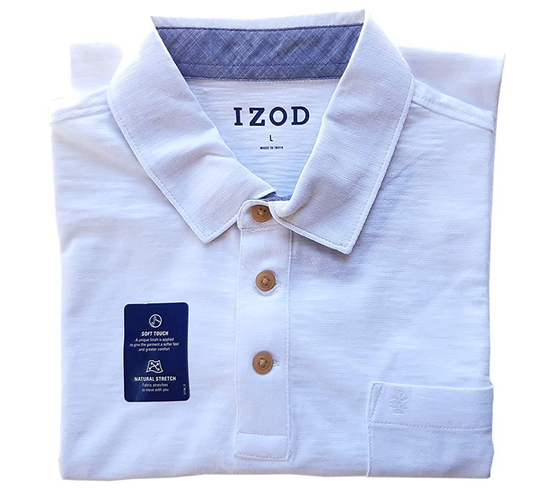 IZOD-Men-039-s-Saltwater-Chest-Pocket-Slub-Polo-529635 thumbnail 5