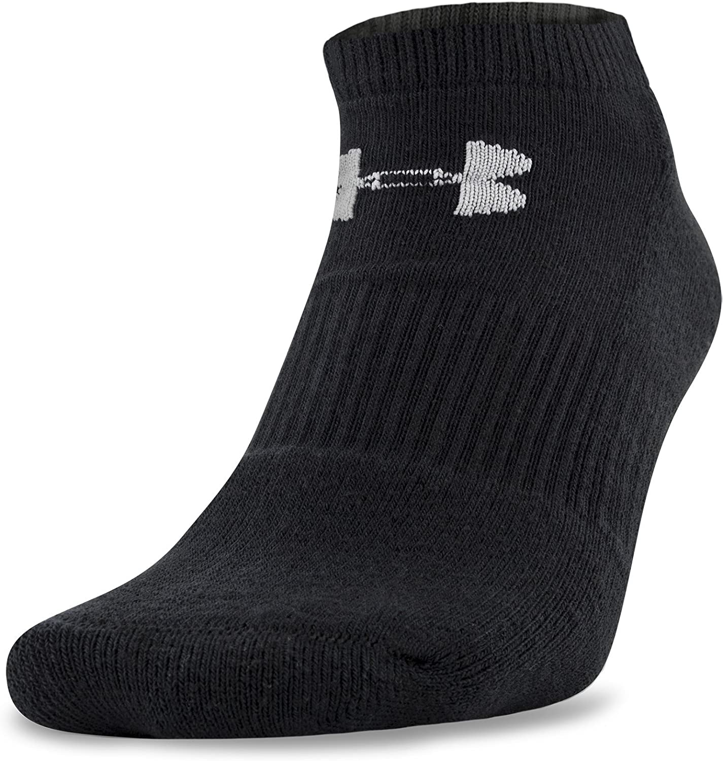 thumbnail 4 - Under-Armour-Youth-Charged-Cotton-2-0-No-Show-Socks-6-Pairs