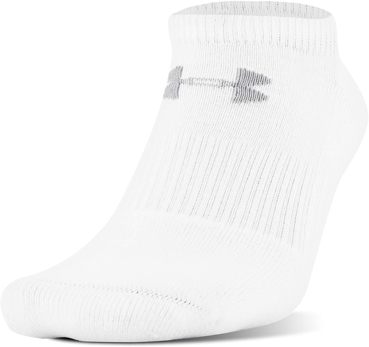 thumbnail 6 - Under-Armour-Youth-Charged-Cotton-2-0-No-Show-Socks-6-Pairs
