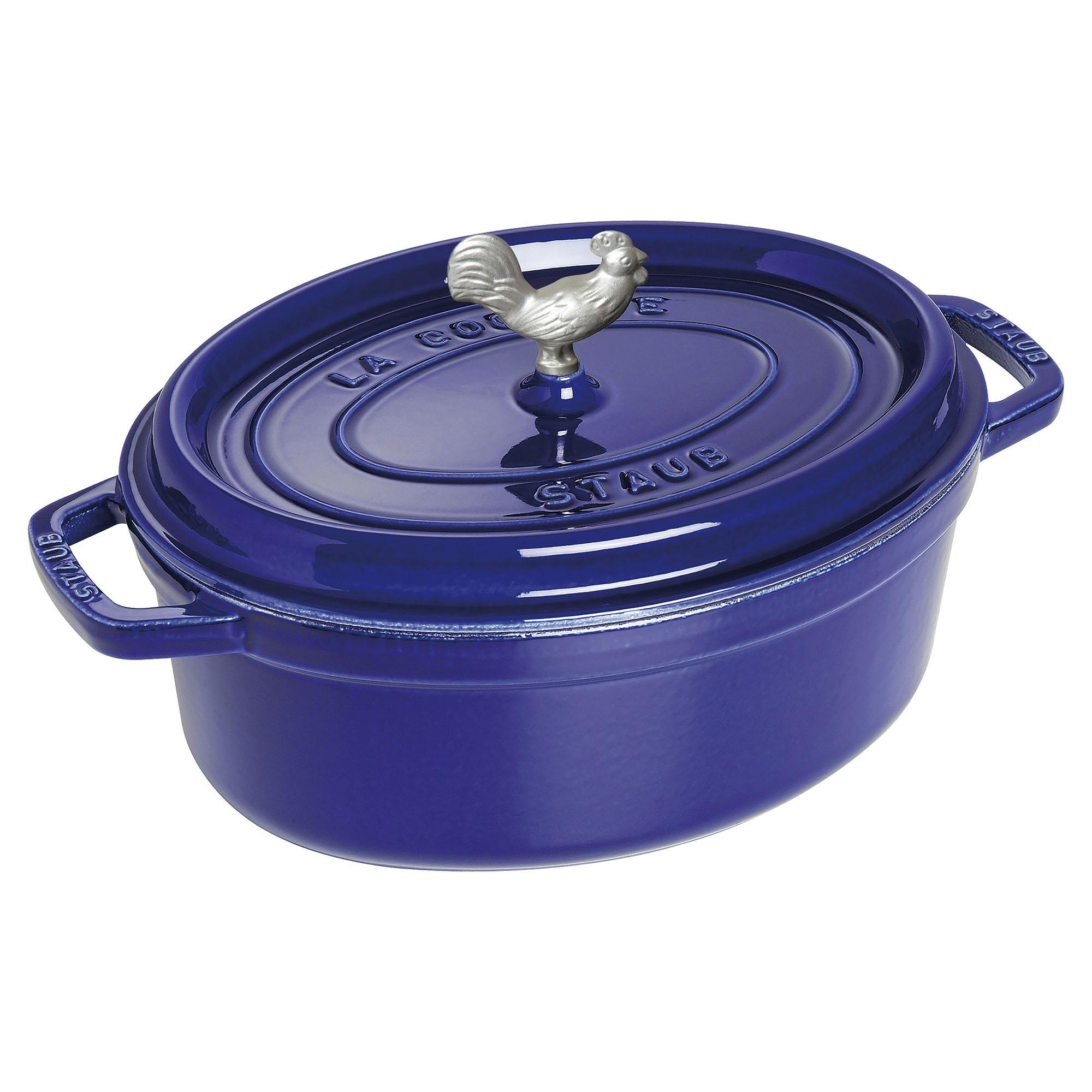Staub Cast Iron 5.75-qt Coq au Vin Cocotte - Dark Blue