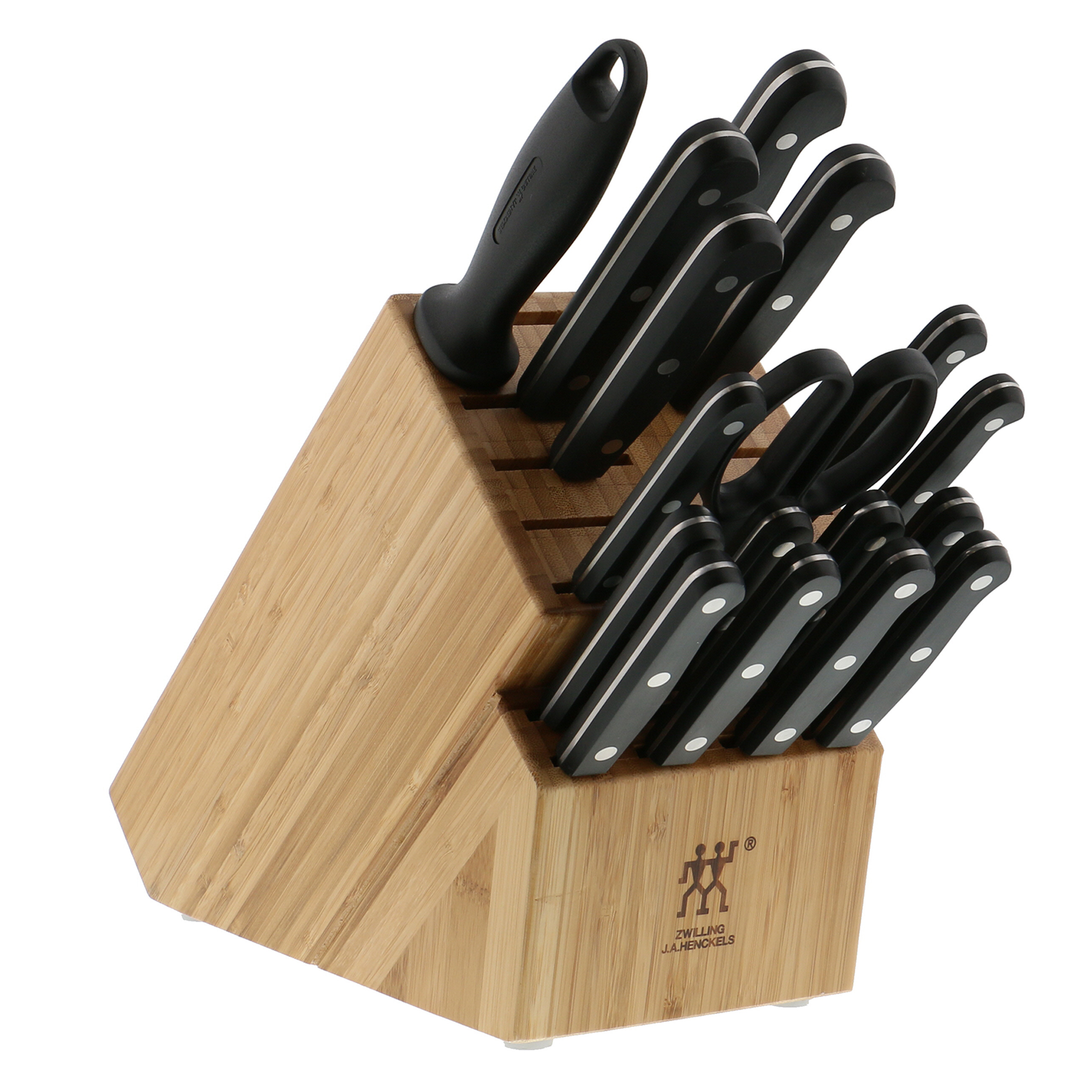 zwilling twin gourmet classic 18 pc knife block set 35886365240 ebay. Black Bedroom Furniture Sets. Home Design Ideas
