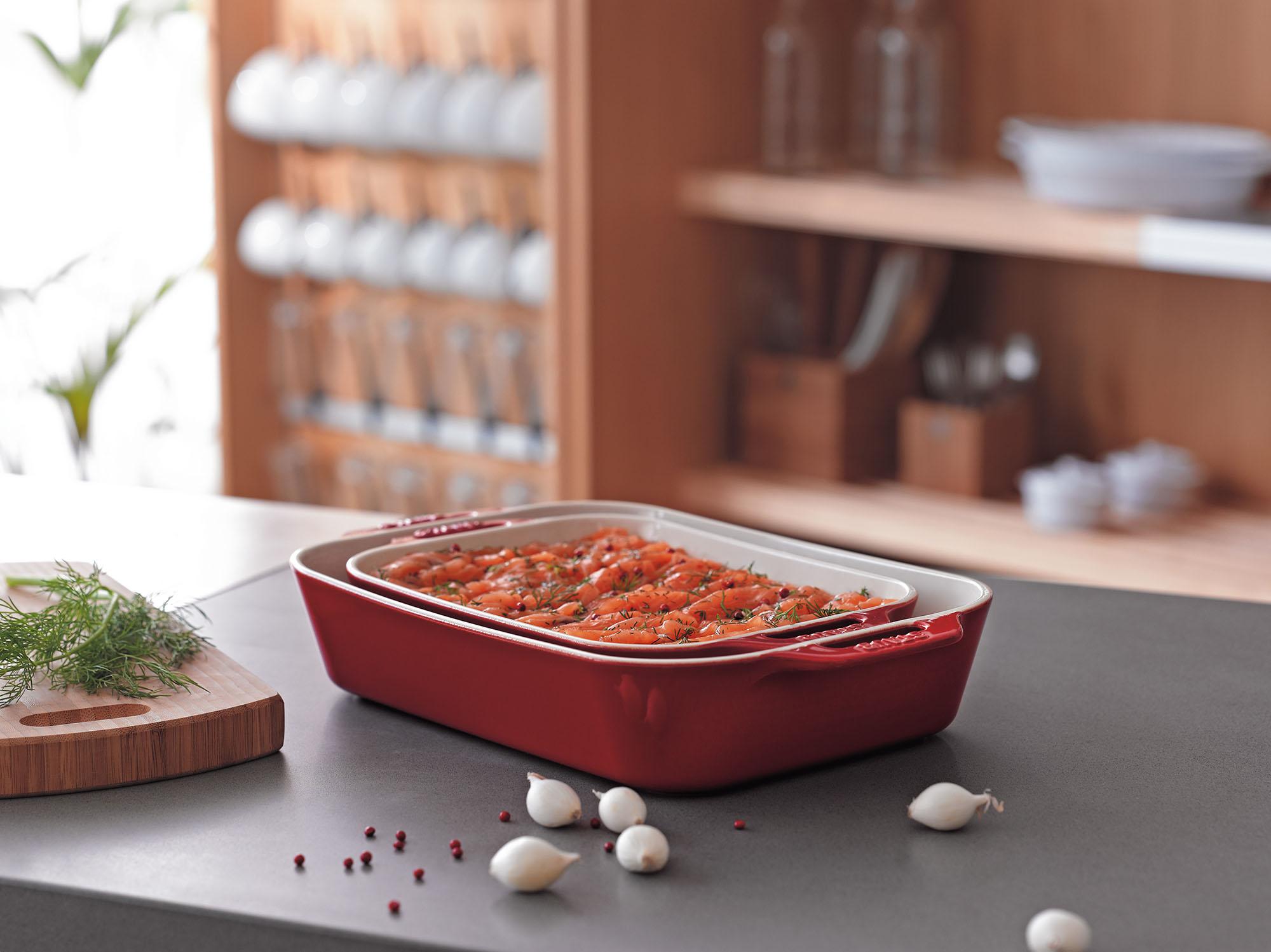 Ceramic Stoneware Baking : Staub ceramic stoneware pc rectangular baking dish set