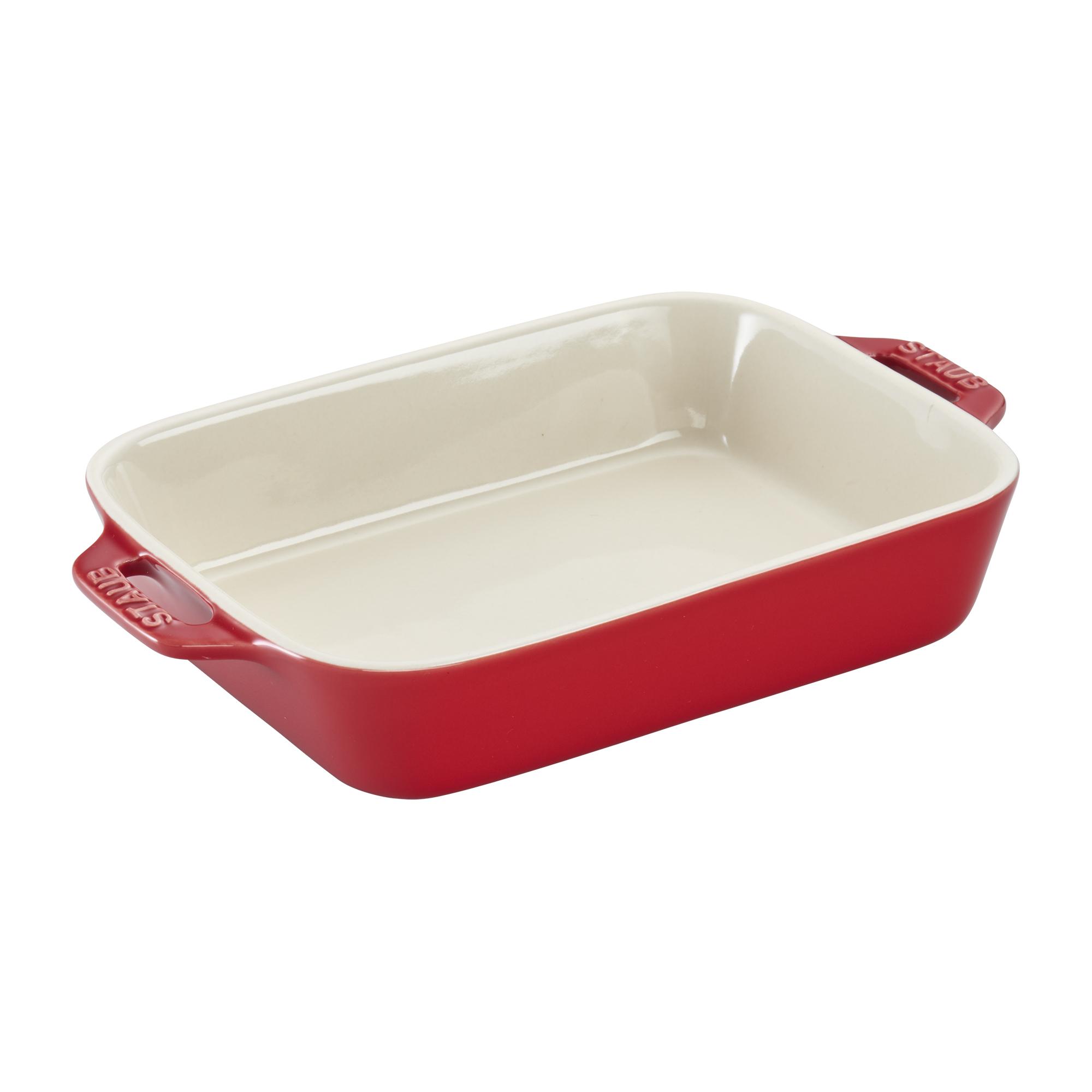 Staub Ceramic 7.5-inch x 6-inch Rectangular Baking Dish - Cherry