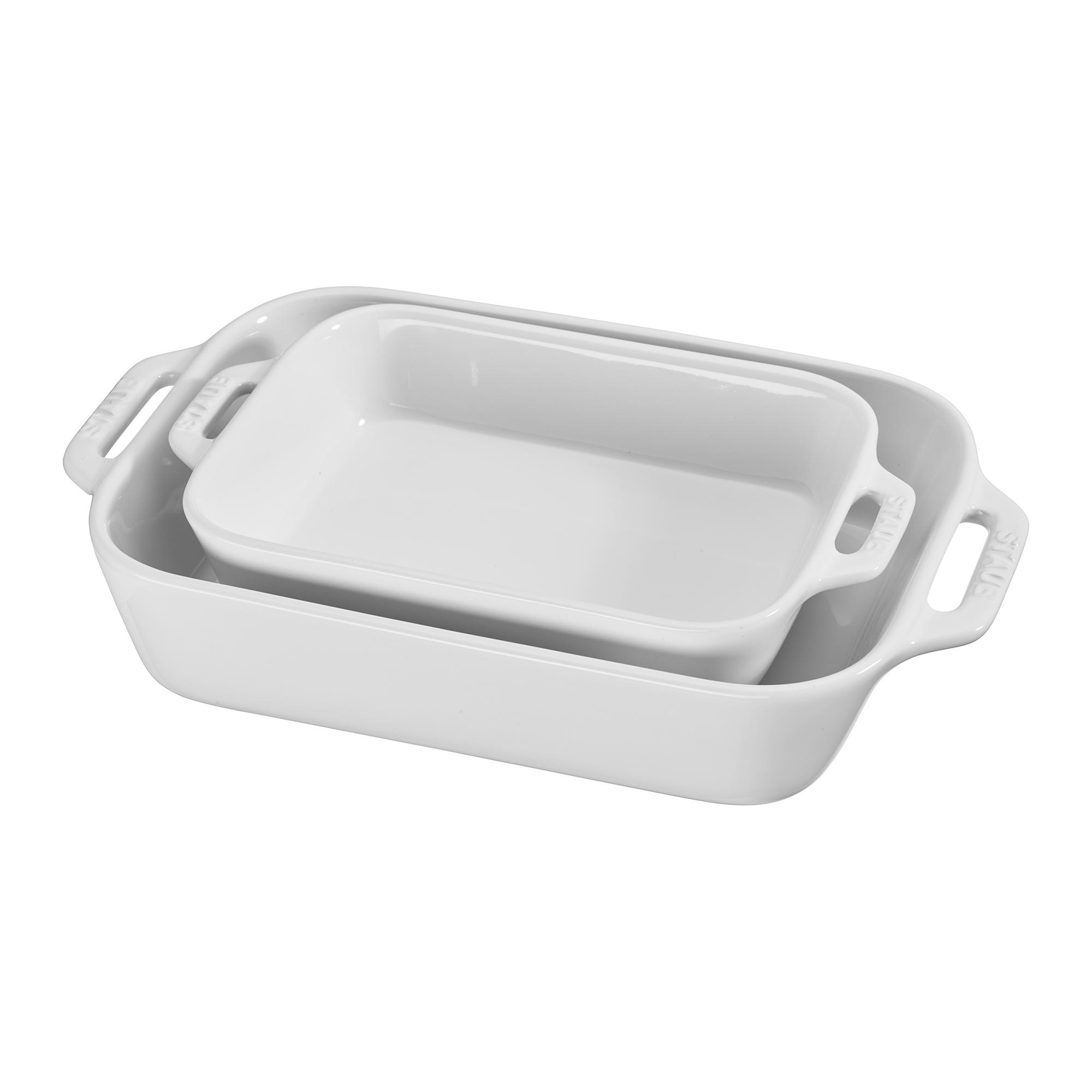 Staub Ceramic Stoneware 2 Pc Rectangular Baking Dish Set