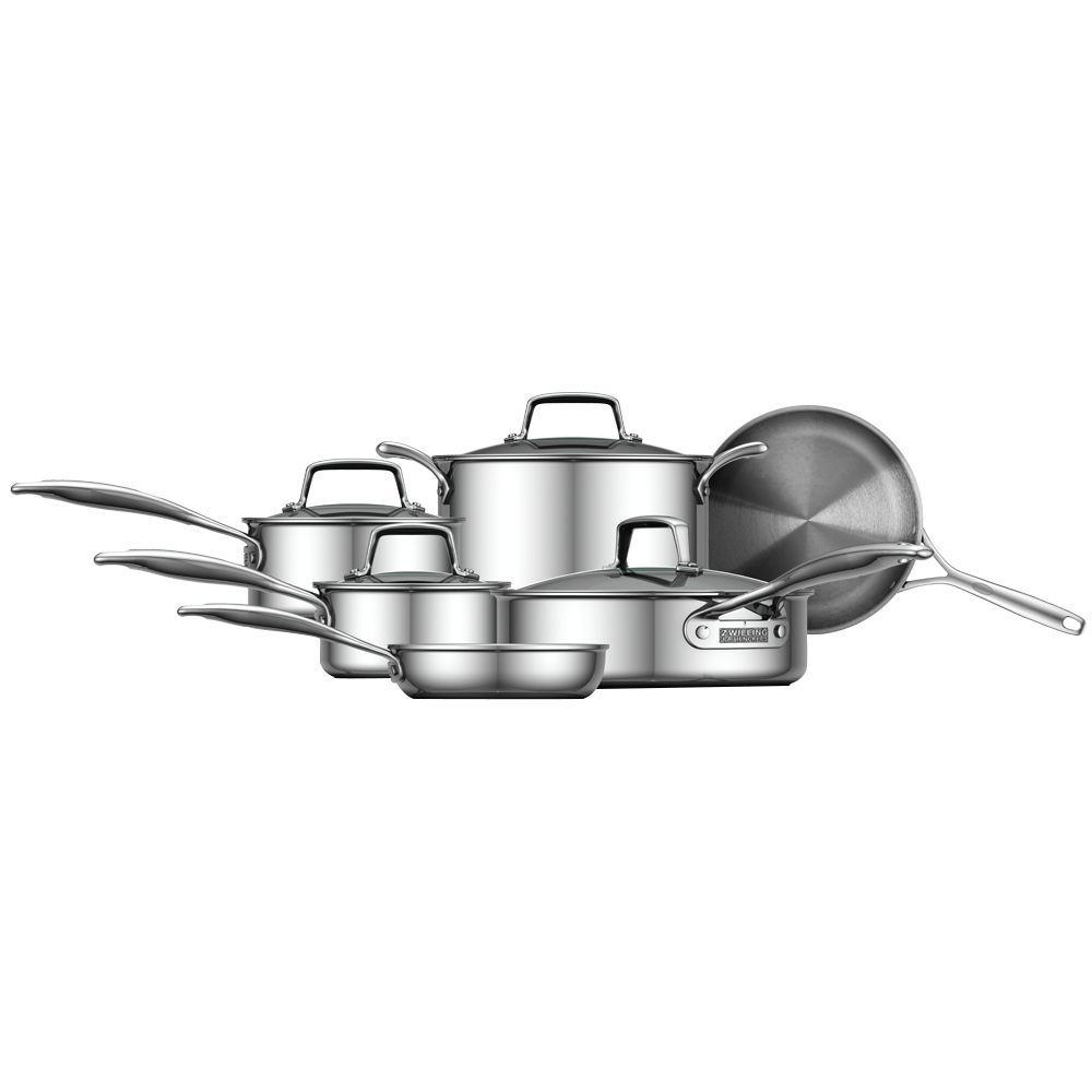 Zwilling Energy 10 Pc Polished 3 Ply Stainless Steel