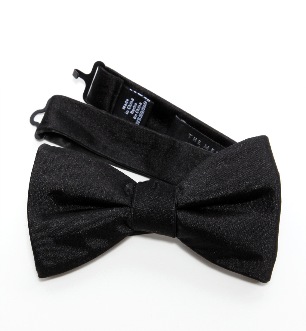 679b494b314d Details about THE MEN'S STORE AT BLOOMINGDALE'S $59 1994 Solid Satin Pre-Tied  Bow Tie O/S