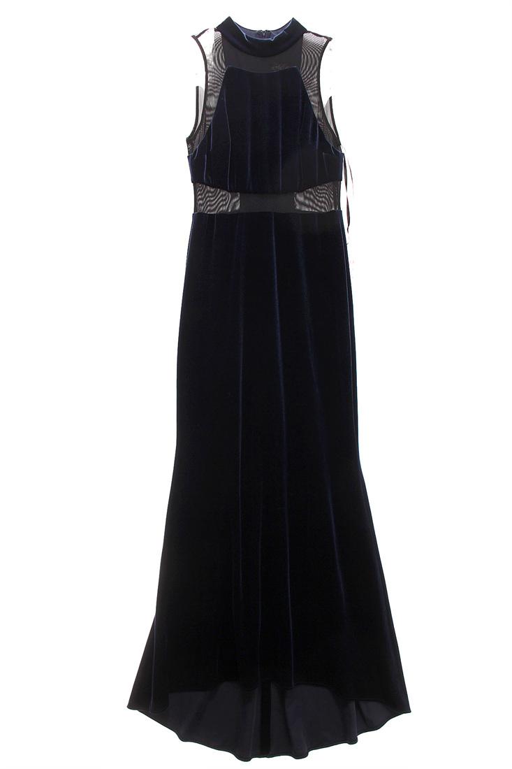 BETSY & ADAM $209 NEW 4380 Mesh Inset Velvet Gown Womens Dress 8P ...