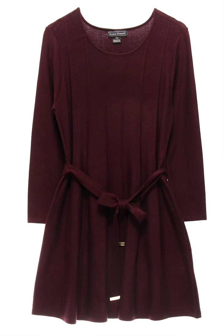 06a81f04e5c JESSICA HOWARD  79 NEW 13925 Fit And Flare Sweater Womens Dress PXL ...