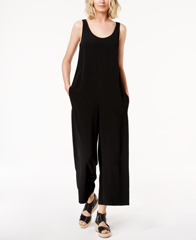 30a501b3d94 EILEEN FISHER  268 NEW 14755 Wide-Leg Ankle Jumpsuit Womens Dress XL