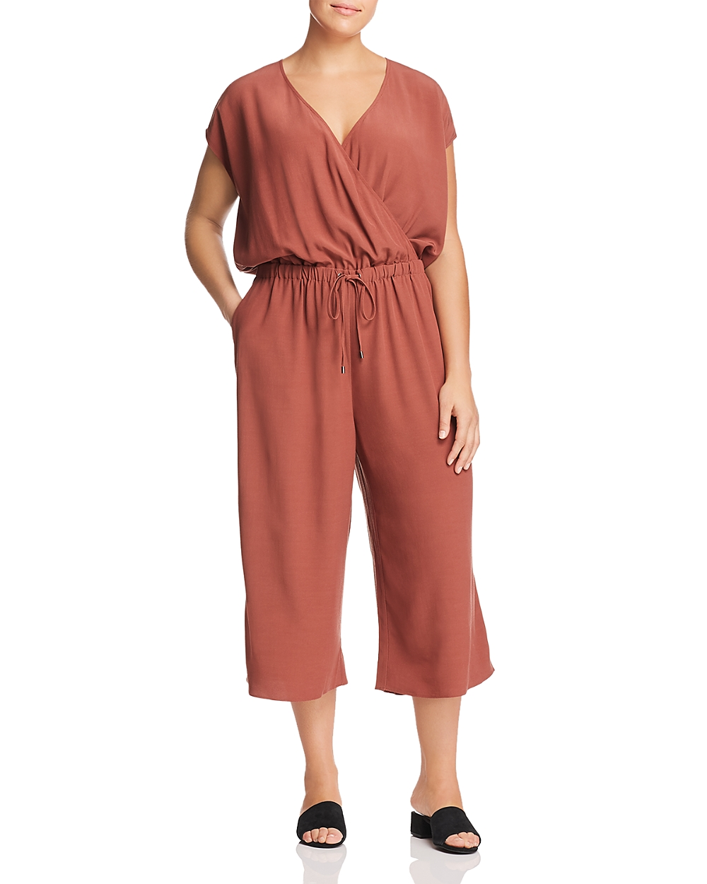 2dcb567e754 Details about EILEEN FISHER $288 NEW 14919 Wide Leg Cropped Jumpsuit Womens  Dress 1X