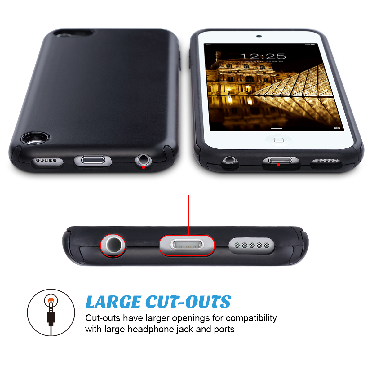Hybrid-Hard-Protective-Silicon-TPU-Case-for-Apple-iPod-Touch-5-6th-Generation thumbnail 14