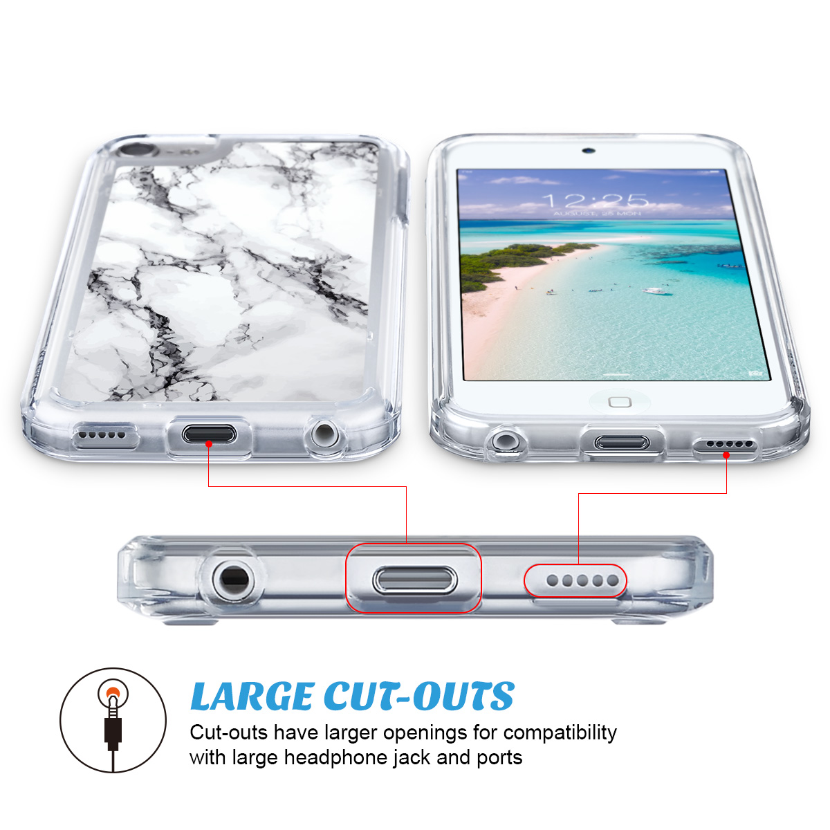 For-iPod-Touch-5-6th-7-Gen-Crystal-Clear-Back-Shockproof-Bumper-Hard-Case-Cover thumbnail 34