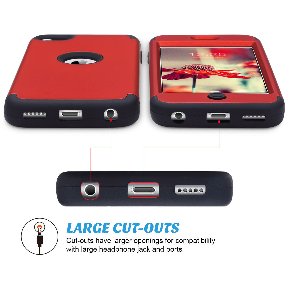Hybrid-Hard-Protective-Silicon-TPU-Case-for-Apple-iPod-Touch-5-6th-Generation thumbnail 97