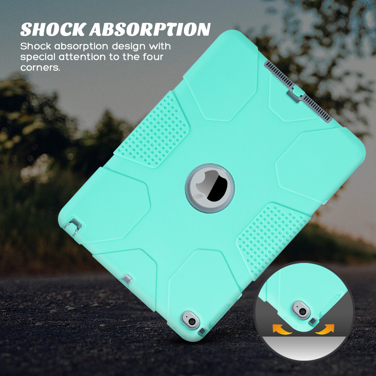 Shockproof-Heavy-Duty-Rubber-With-Hard-Stand-Case-Cover-For-Apple-iPad-Air-2 thumbnail 23