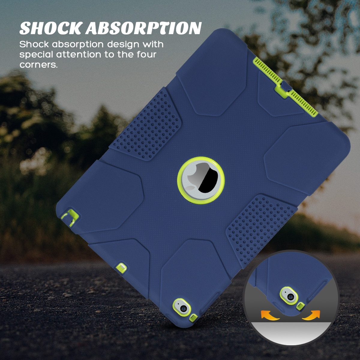 Shockproof-Heavy-Duty-Rubber-With-Hard-Stand-Case-Cover-For-Apple-iPad-Air-2 thumbnail 32