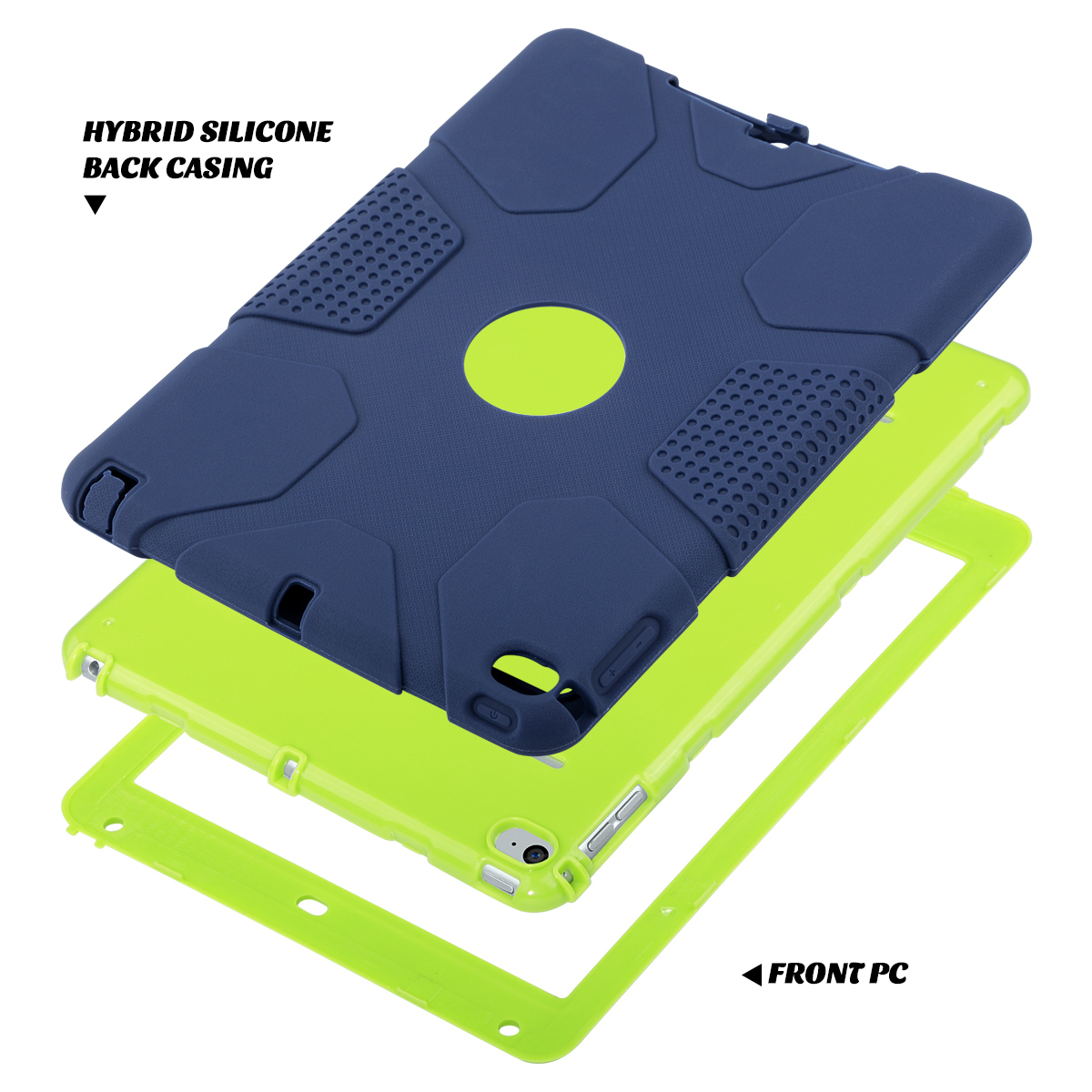 Shockproof-Heavy-Duty-Rubber-With-Hard-Stand-Case-Cover-For-Apple-iPad-Air-2 thumbnail 37