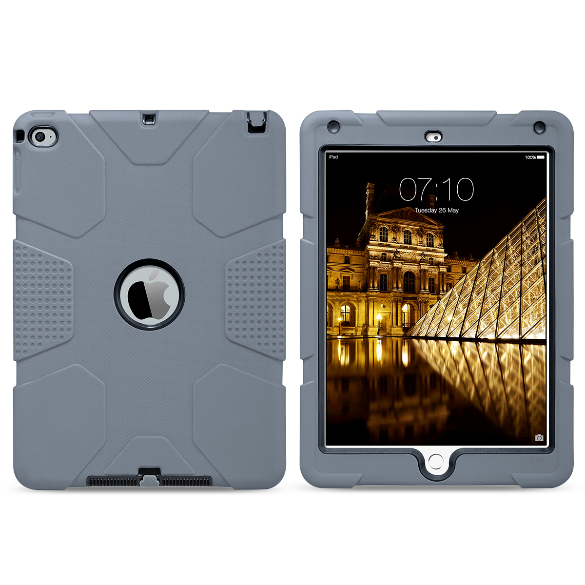 Shockproof-Heavy-Duty-Rubber-With-Hard-Stand-Case-Cover-For-Apple-iPad-Air-2 thumbnail 17