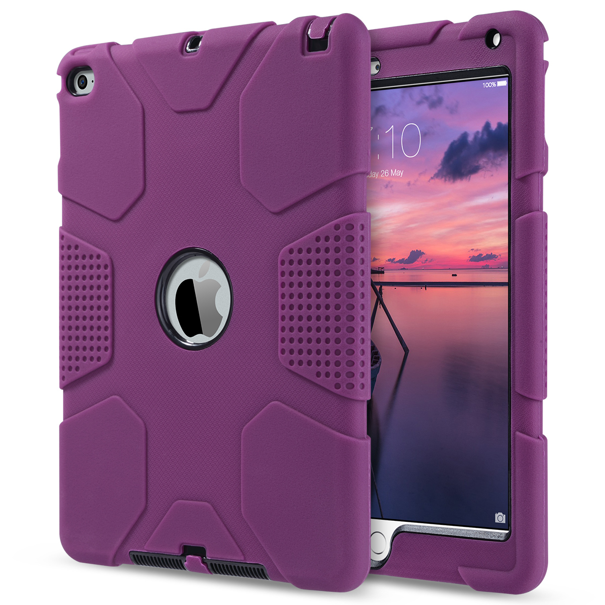 Shockproof-Heavy-Duty-Rubber-With-Hard-Stand-Case-Cover-For-Apple-iPad-Air-2 thumbnail 4
