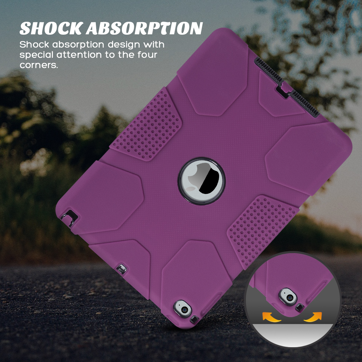 Shockproof-Heavy-Duty-Rubber-With-Hard-Stand-Case-Cover-For-Apple-iPad-Air-2 thumbnail 5