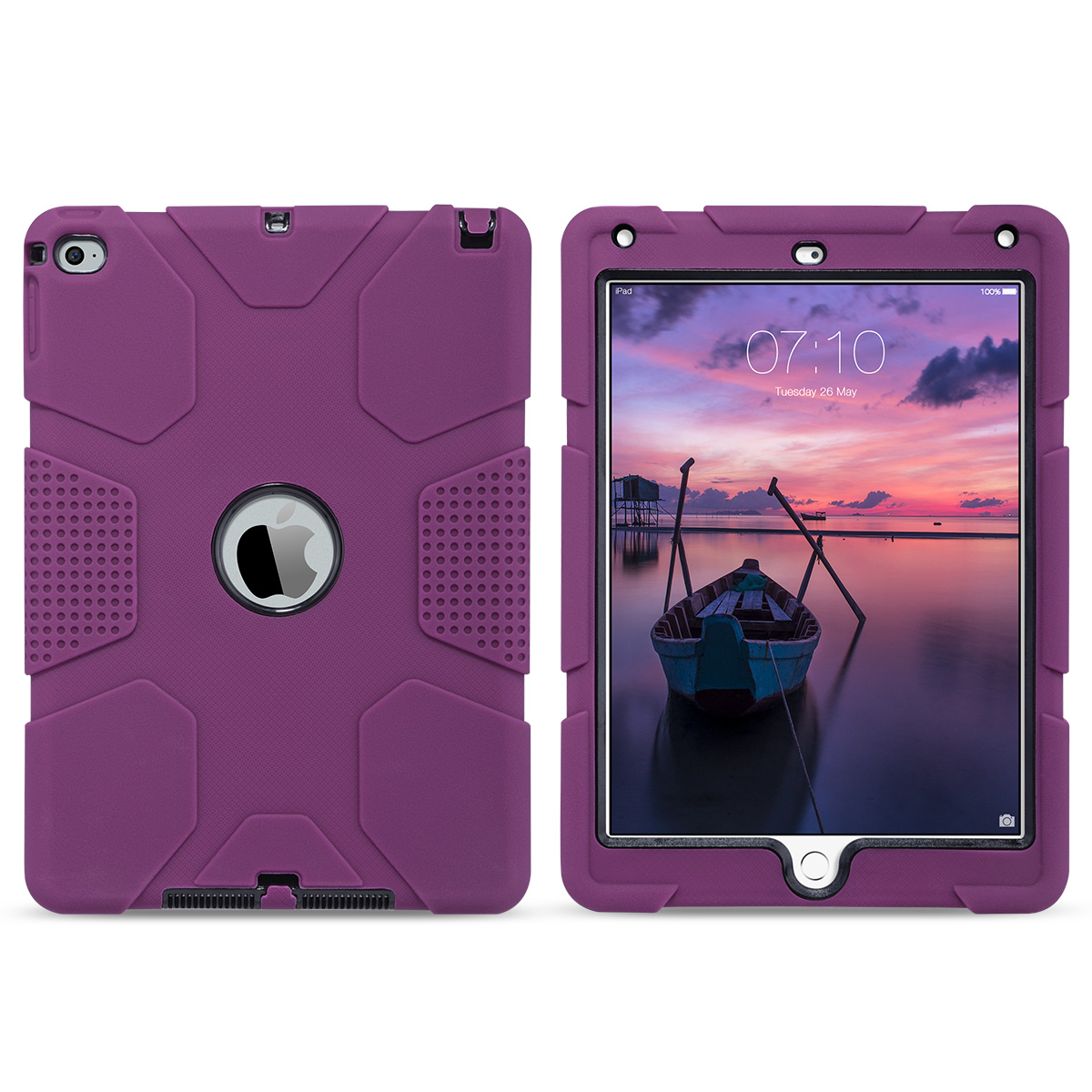 Shockproof-Heavy-Duty-Rubber-With-Hard-Stand-Case-Cover-For-Apple-iPad-Air-2 thumbnail 8