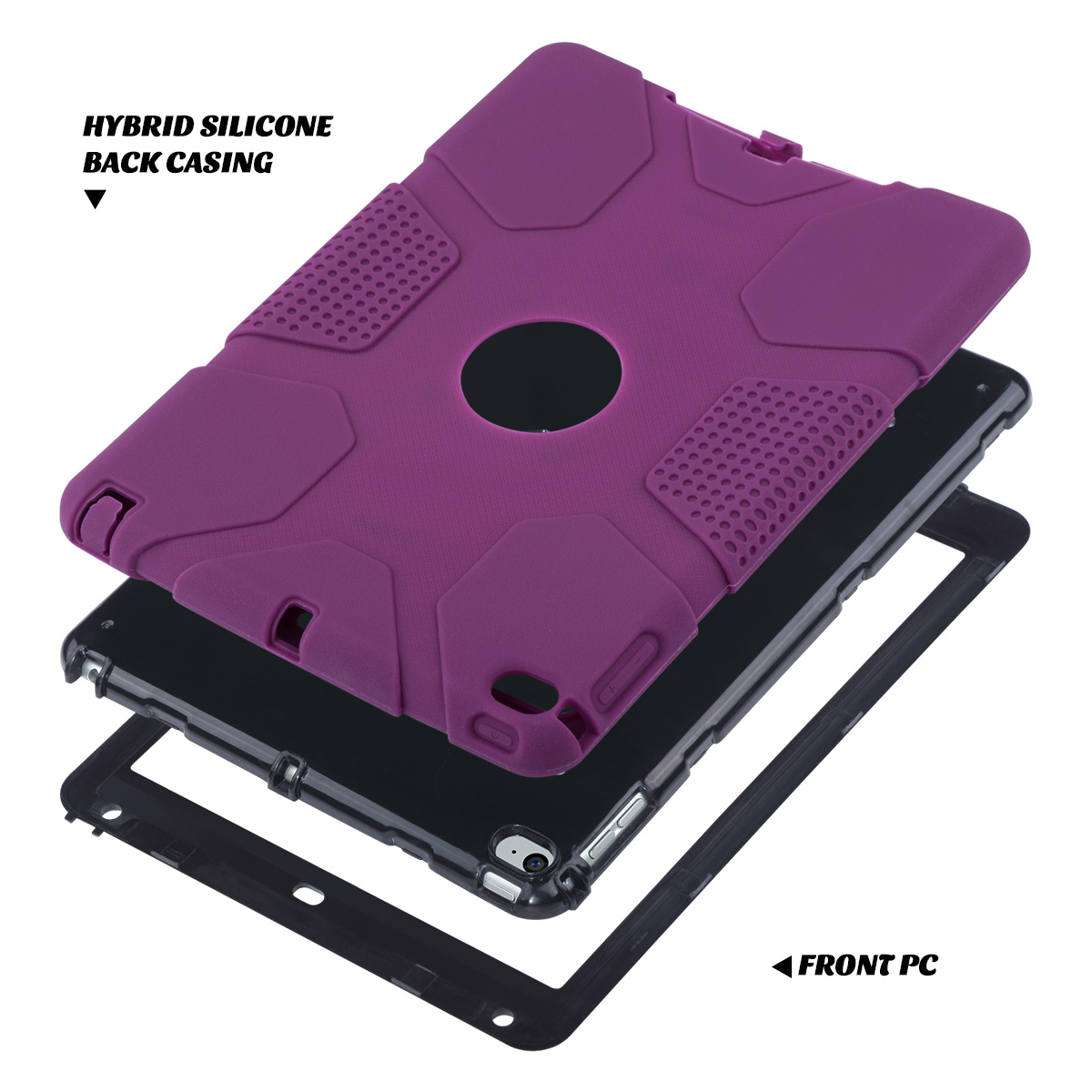 Shockproof-Heavy-Duty-Rubber-With-Hard-Stand-Case-Cover-For-Apple-iPad-Air-2 thumbnail 10