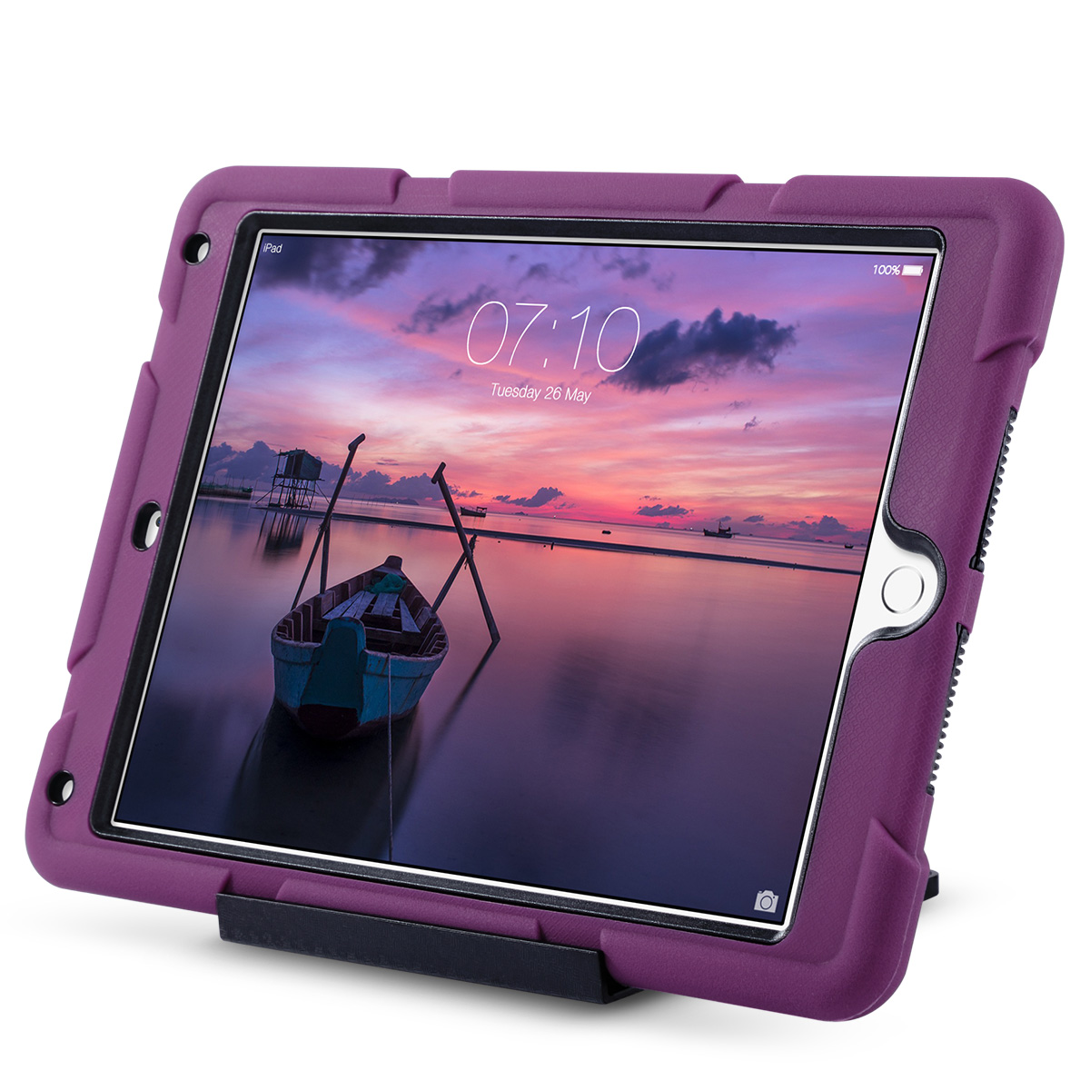Shockproof-Heavy-Duty-Rubber-With-Hard-Stand-Case-Cover-For-Apple-iPad-Air-2 thumbnail 11