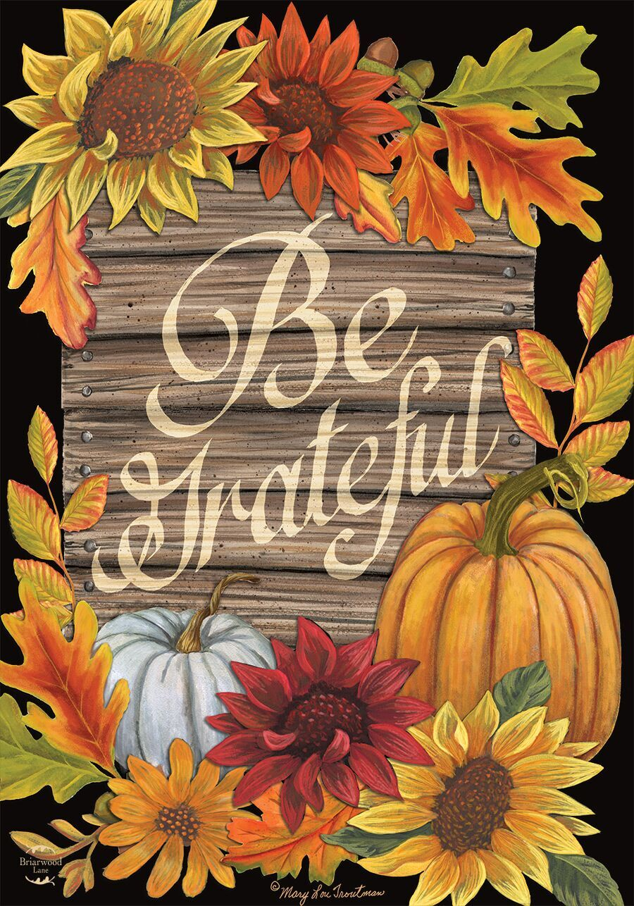 Be Grateful Autumn Magnetic Mailbox Cover Thanksgiving Floral Fall Standard