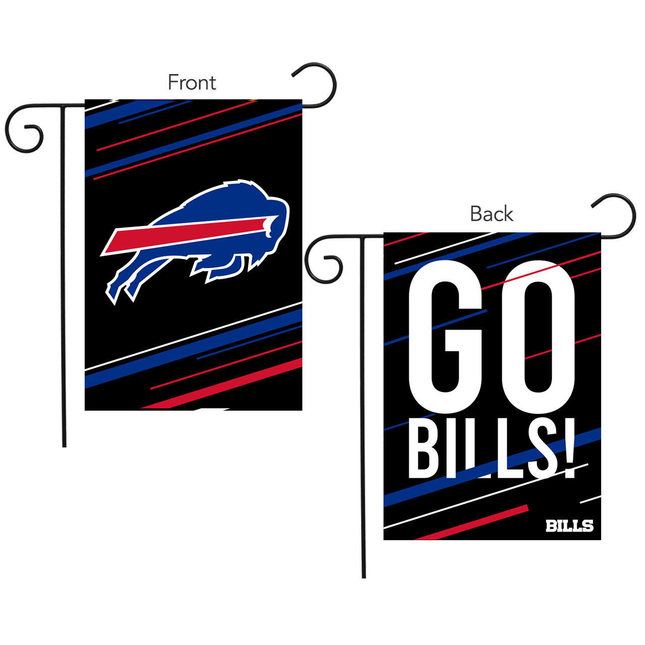 Buffalo Bills Slogan Garden Flag Nfl Licensed 12 5 X 18 Briarwood Lane Ebay
