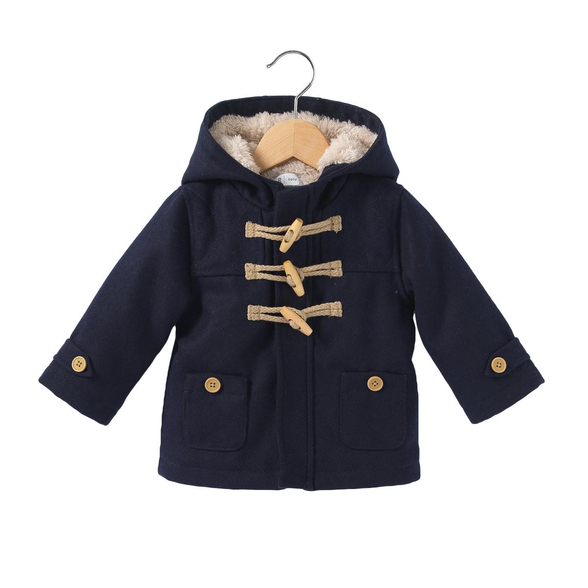 7788a1550 Boys Faux Fur Lined Duffle Coat