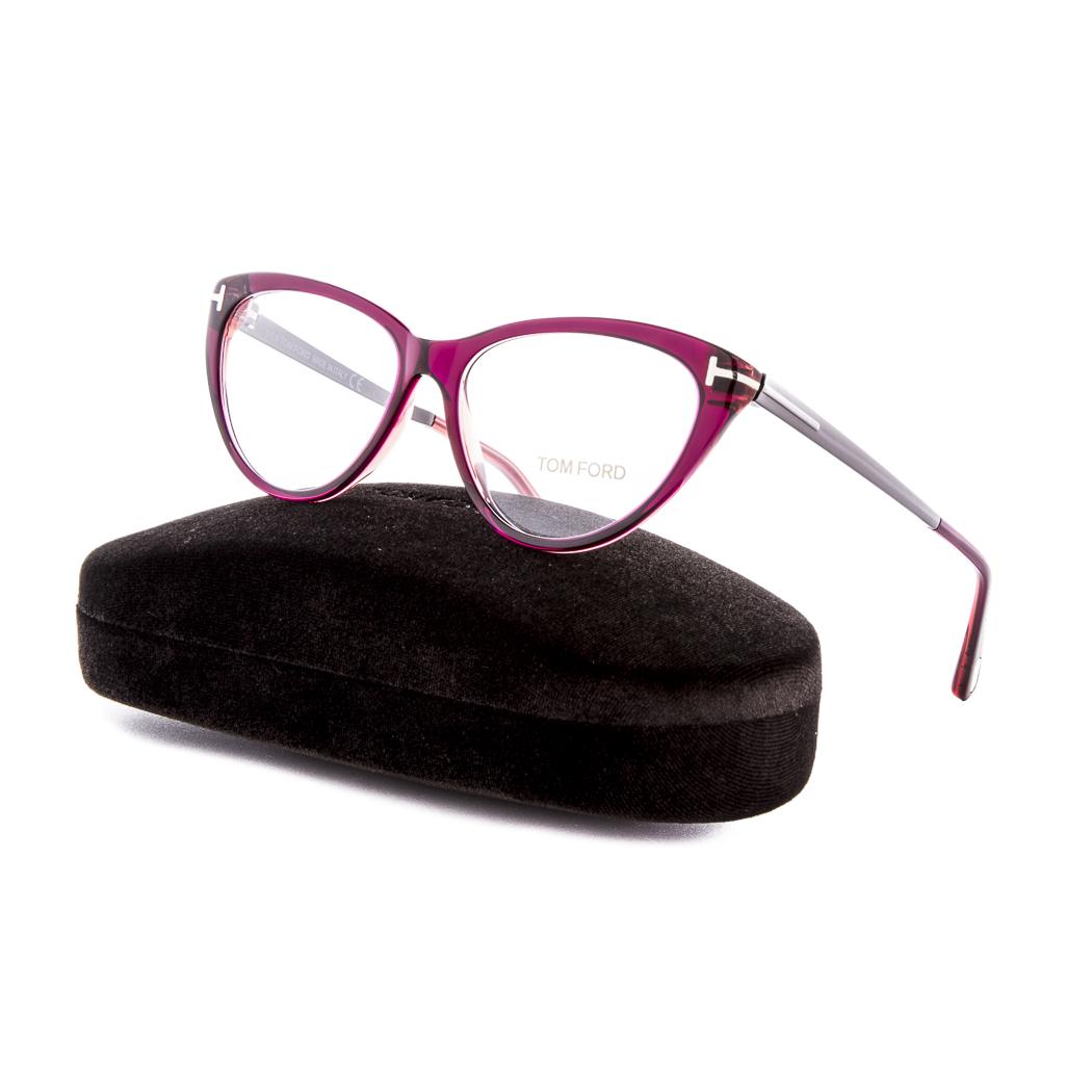 9b4357927e81 Tom Ford 5354 Eyeglasses Round Cat Eye Optical Frame 075 Red ...