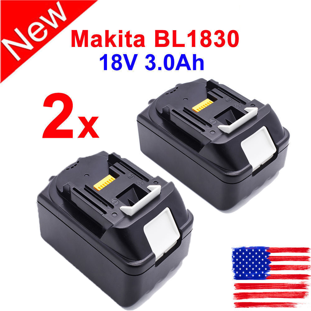 2pcs 18v 3 0ah Battery For Makita Lxt400 Bl1815 Bl1830