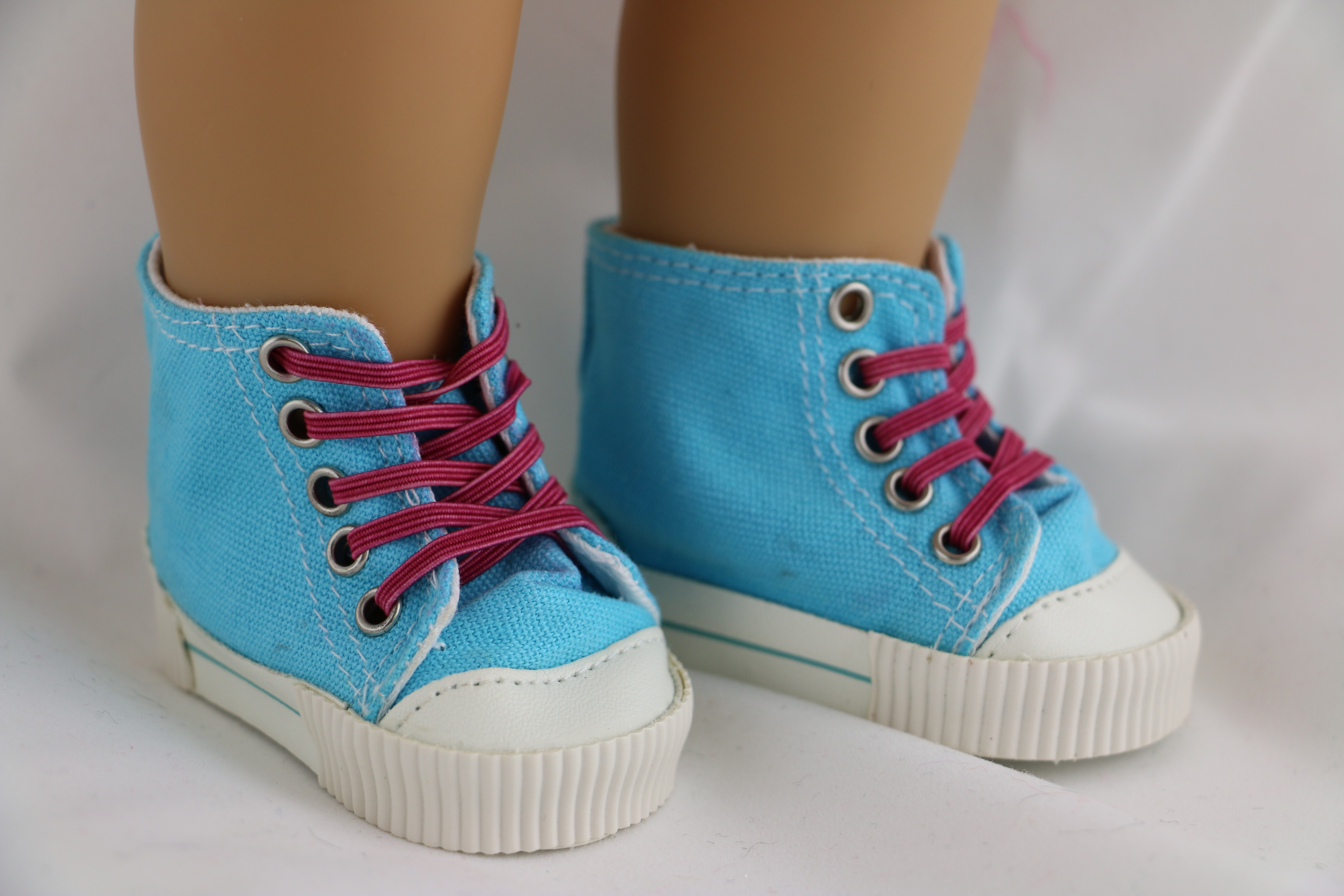 """Doll Clothes 18/"""" Sneakers High Top Blue Fits American Girl Dolls"""