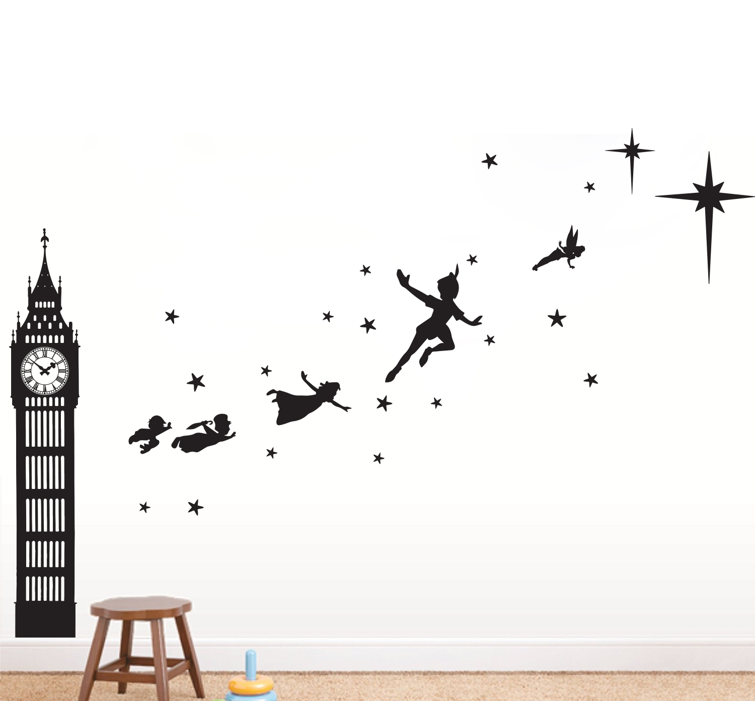 Wall Sticker Quotes Uk Peter Pan Big Ben Silhouette Www Imgkid Com The Image