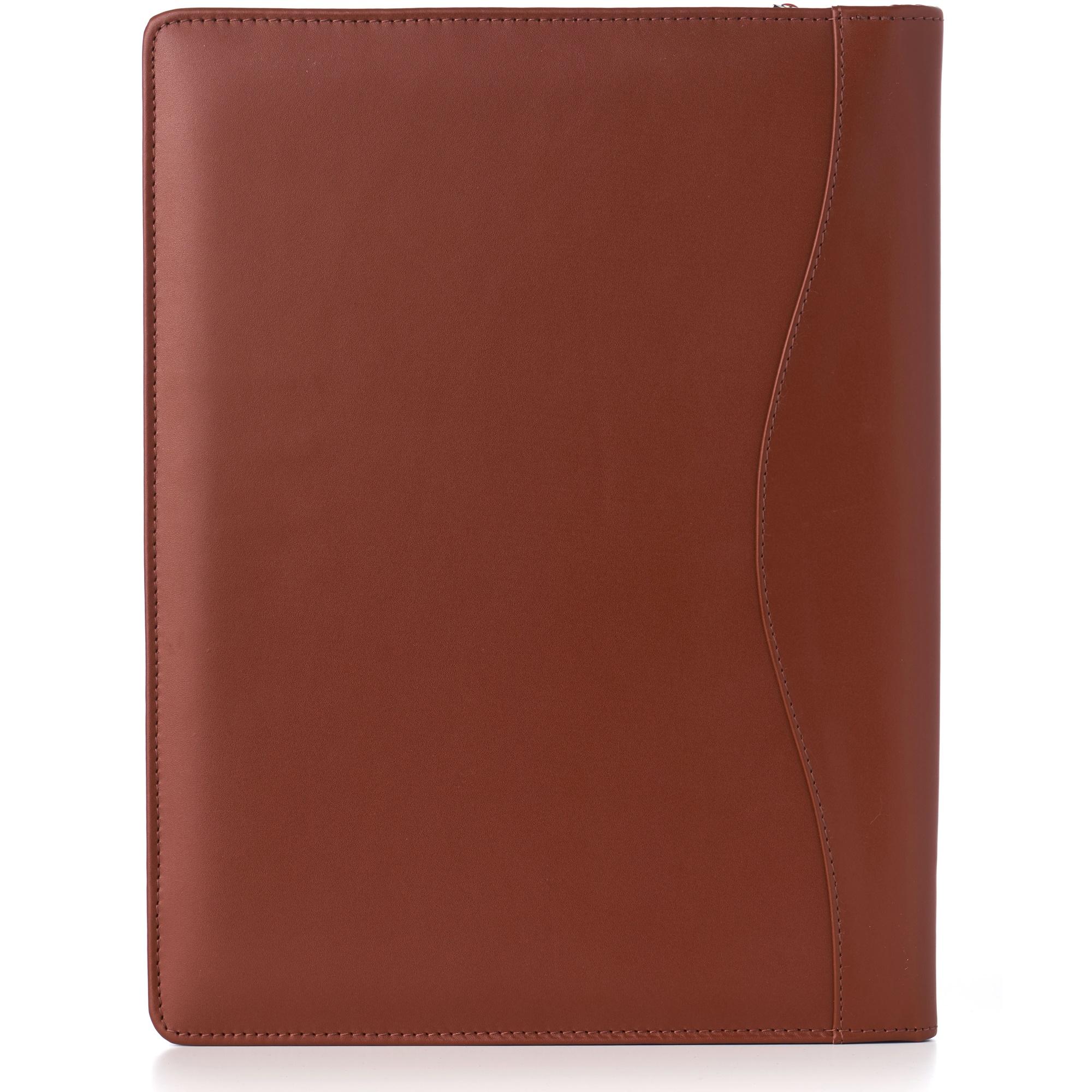 thumbnail 50 - Alpine Swiss Leather Zippered Writing Pad Portfolio Business Briefcase Organizer