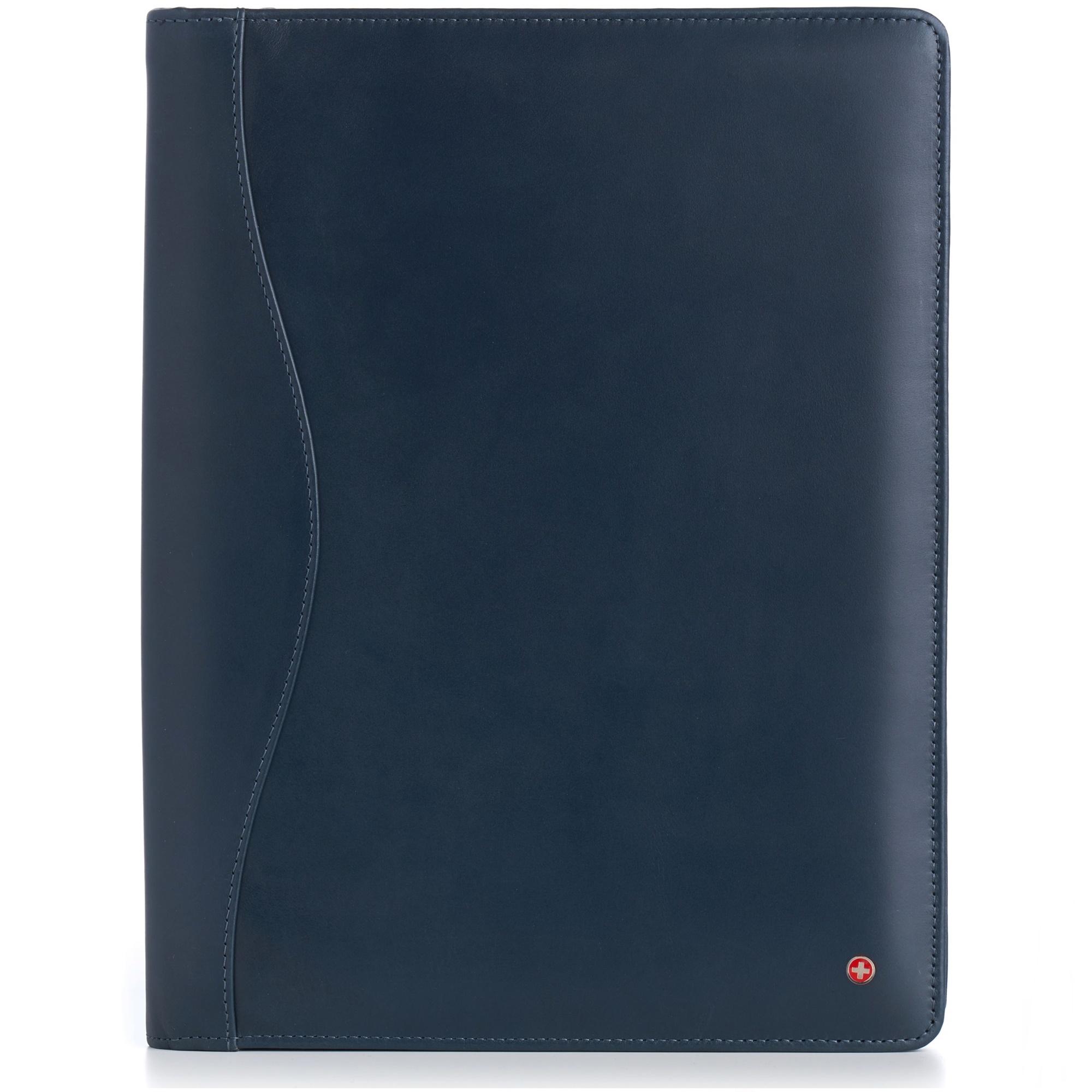 thumbnail 32 - Alpine Swiss Leather Zippered Writing Pad Portfolio Business Briefcase Organizer