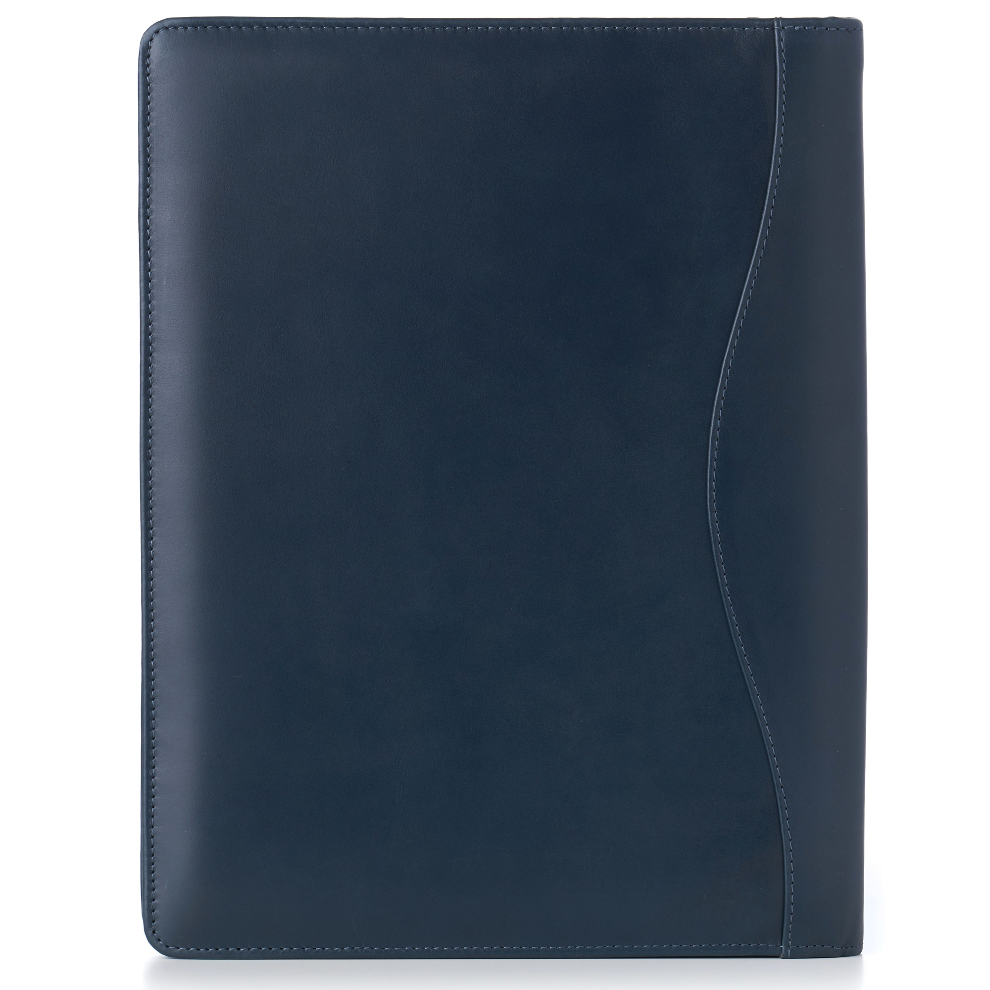 thumbnail 34 - Alpine Swiss Leather Zippered Writing Pad Portfolio Business Briefcase Organizer
