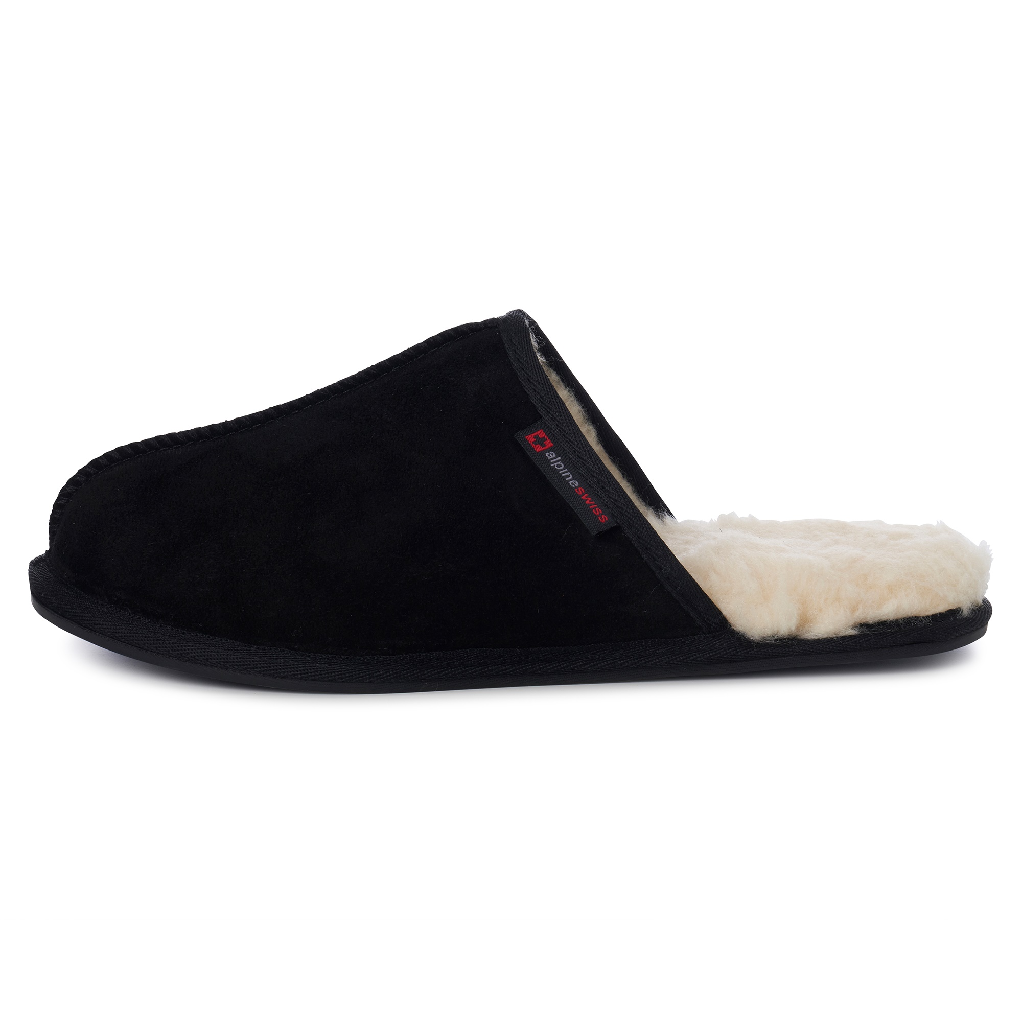 Alpine-Swiss-Mens-Suede-Memory-Foam-Scuff-Slippers-Comfort-Slip-On-House-Shoes thumbnail 13