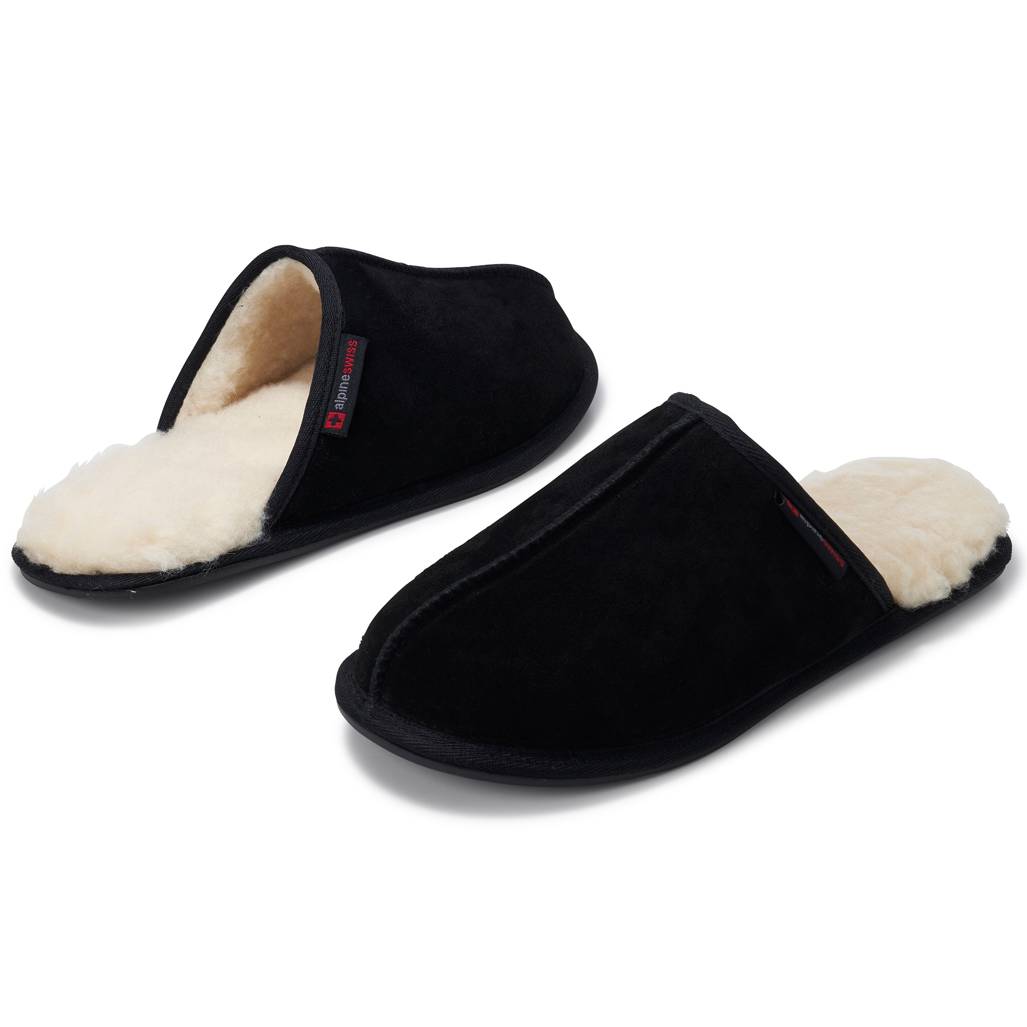 Alpine-Swiss-Mens-Suede-Memory-Foam-Scuff-Slippers-Comfort-Slip-On-House-Shoes thumbnail 14