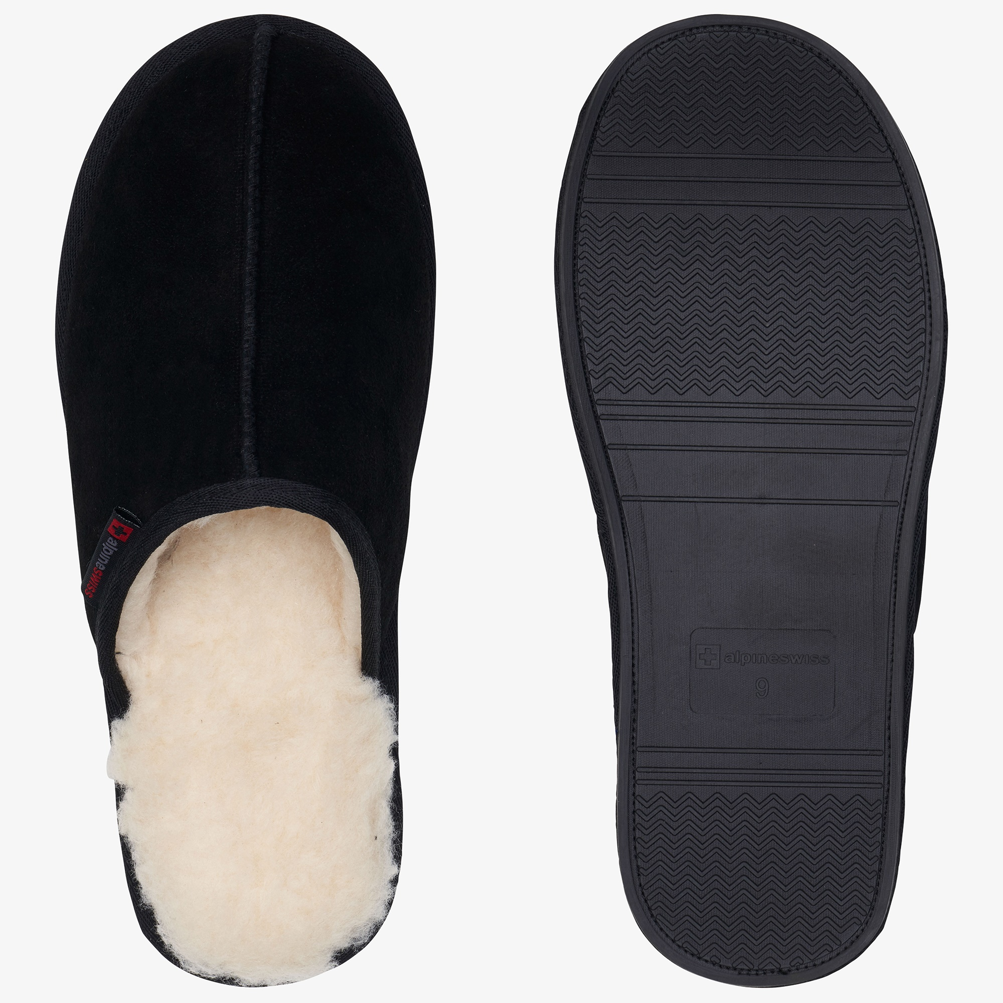 Alpine-Swiss-Mens-Suede-Memory-Foam-Scuff-Slippers-Comfort-Slip-On-House-Shoes thumbnail 15