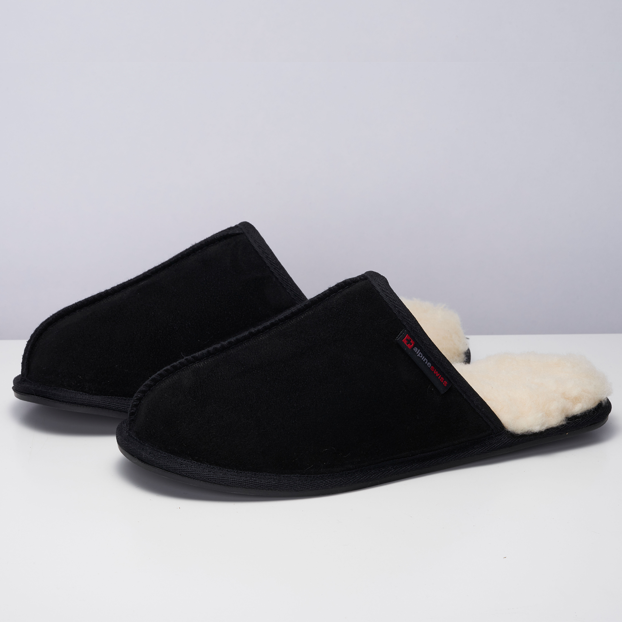 Alpine-Swiss-Mens-Suede-Memory-Foam-Scuff-Slippers-Comfort-Slip-On-House-Shoes thumbnail 17