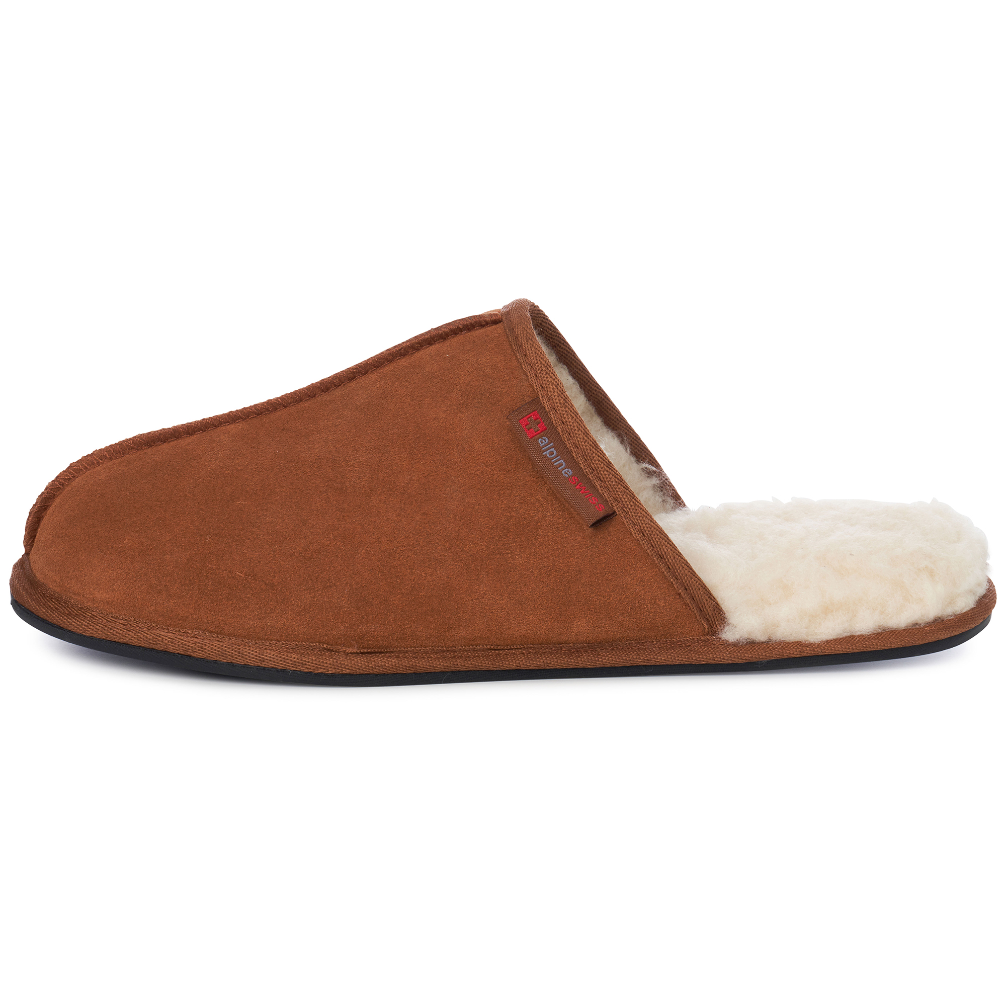 Alpine-Swiss-Mens-Suede-Memory-Foam-Scuff-Slippers-Comfort-Slip-On-House-Shoes thumbnail 19