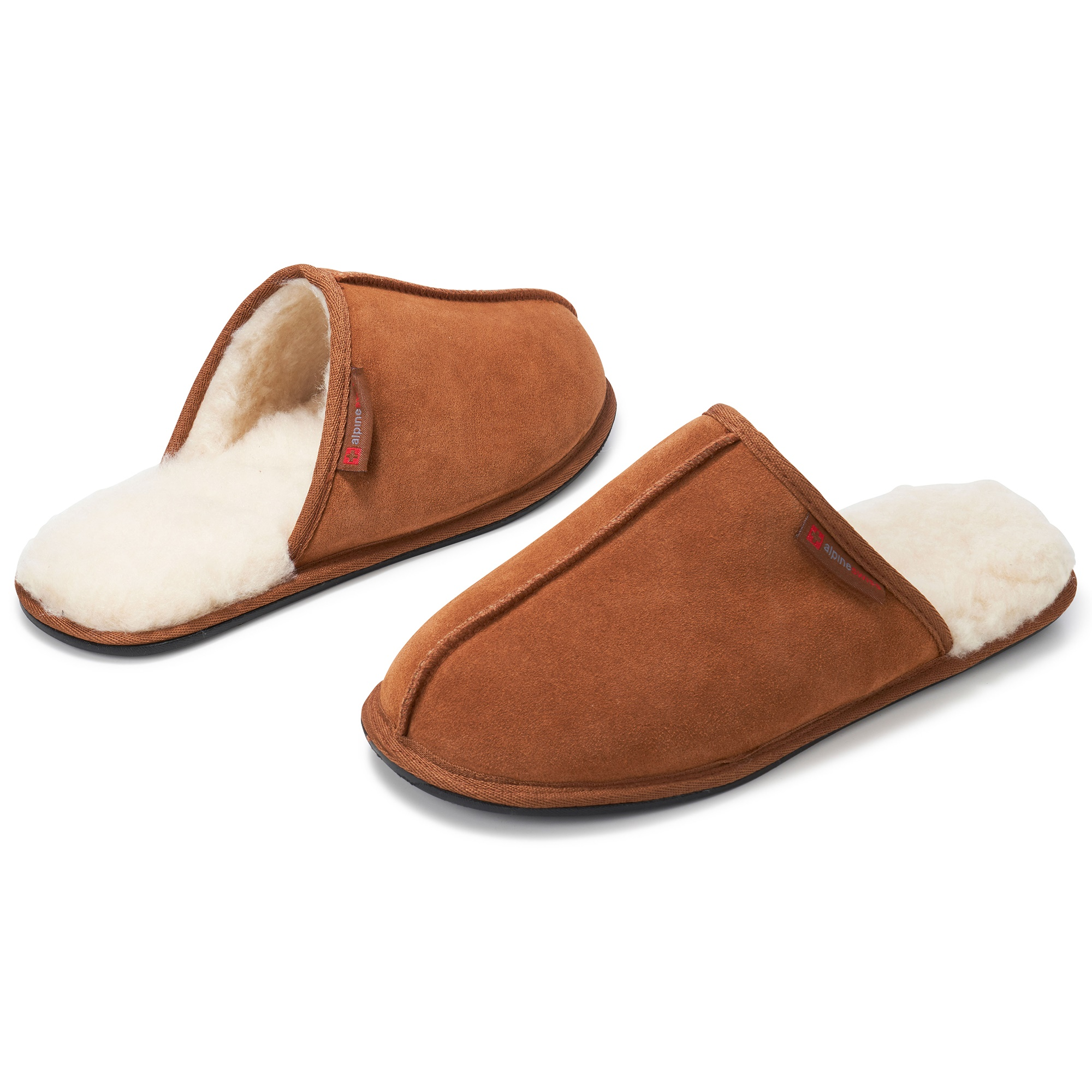 Alpine-Swiss-Mens-Suede-Memory-Foam-Scuff-Slippers-Comfort-Slip-On-House-Shoes thumbnail 20